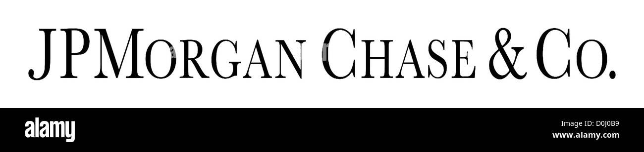 Logo of the American Bank JP Morgan Chase & Co. with seat in New York. Stock Photo