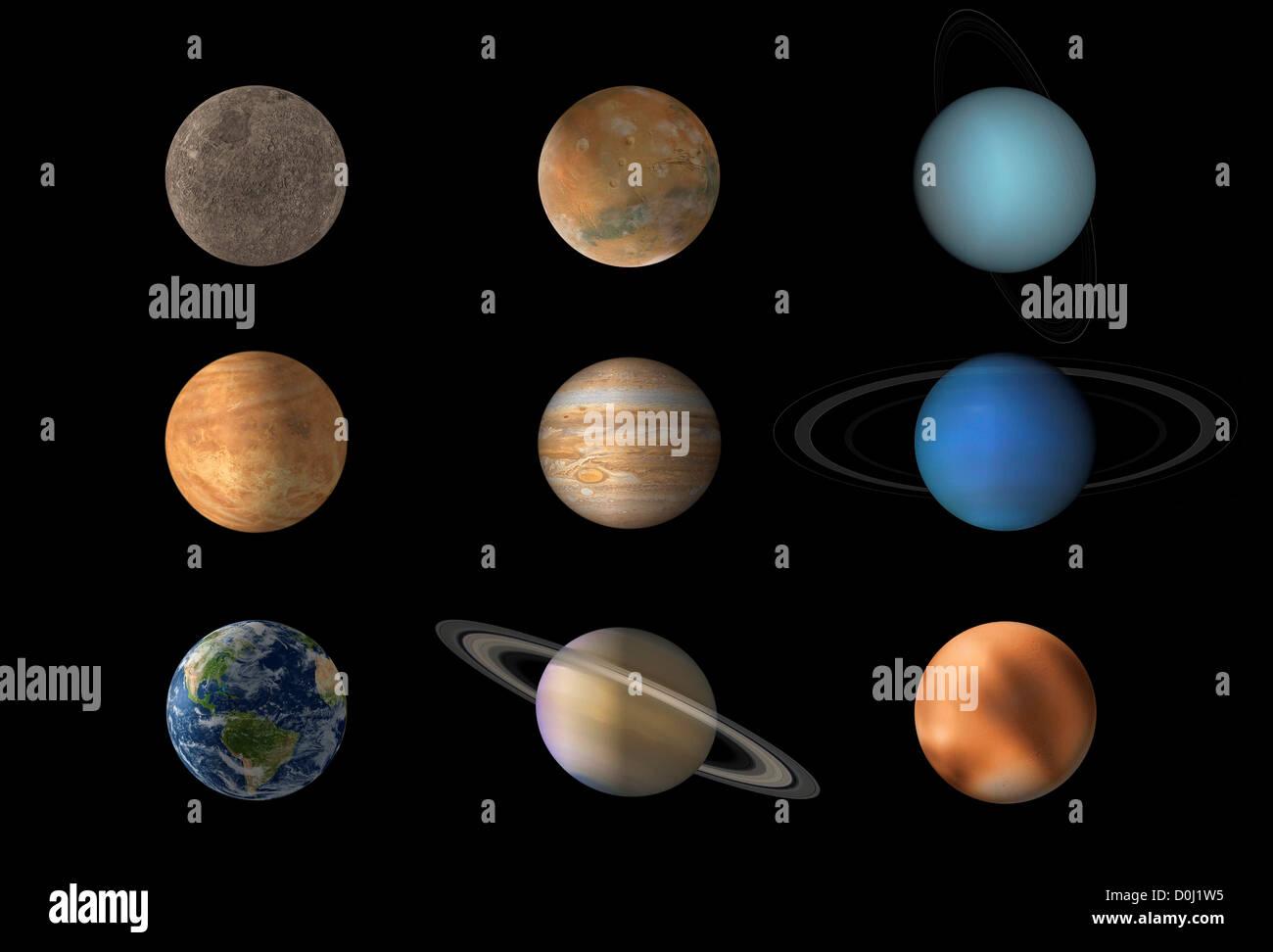 the nine planets - HD1300×972