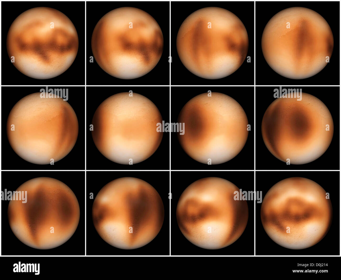Digital Illustration of Pluto's Rotation Stock Photo