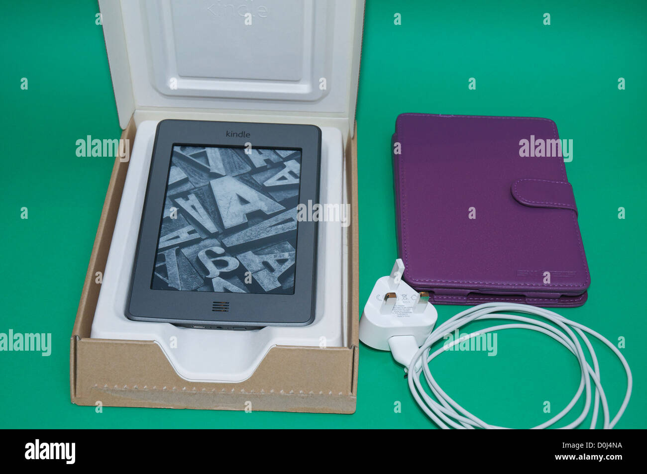 Amazon Kindle Touch e-book reader in original packaging with