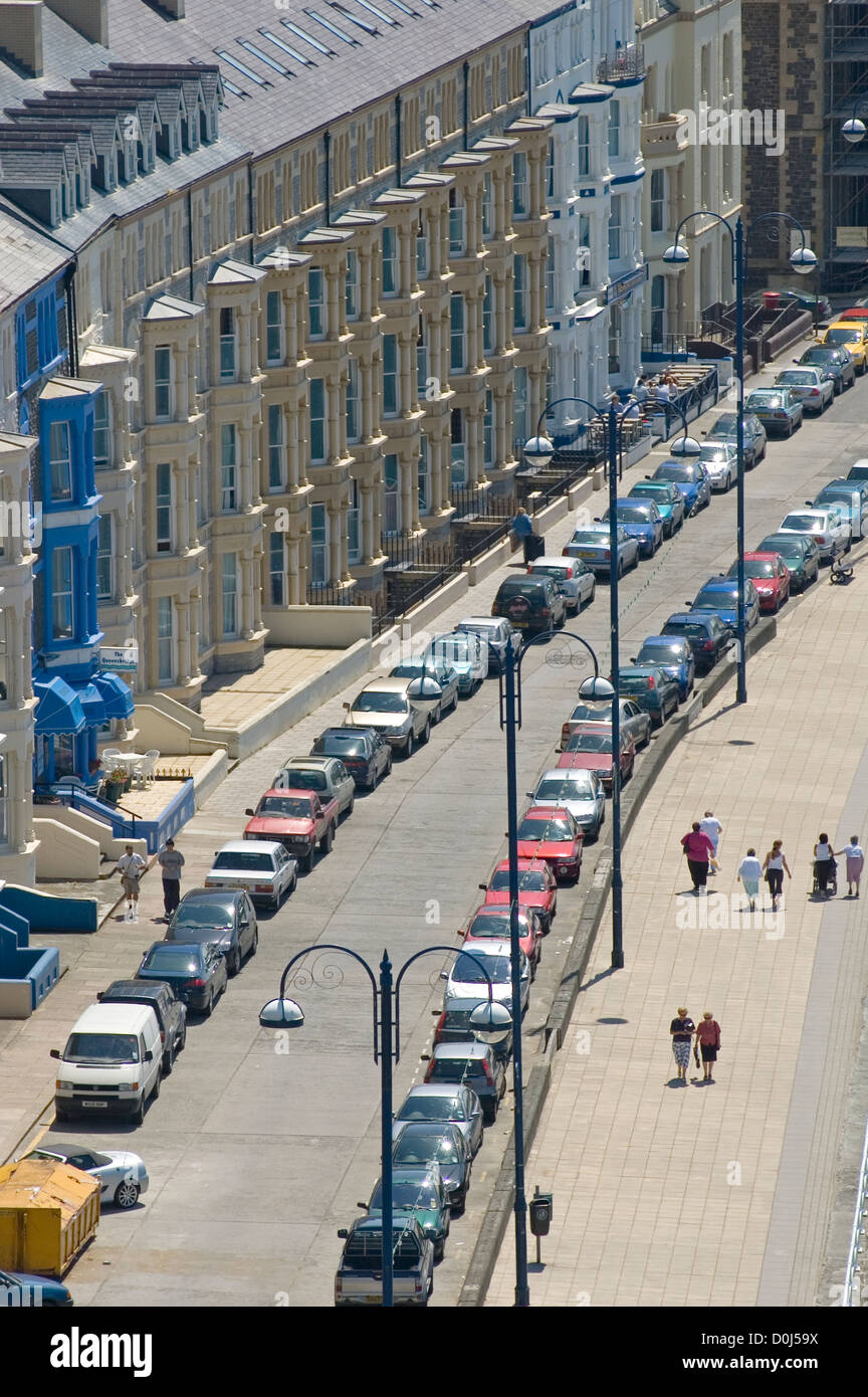 A residential scene in Aberystwyth. - Stock Image