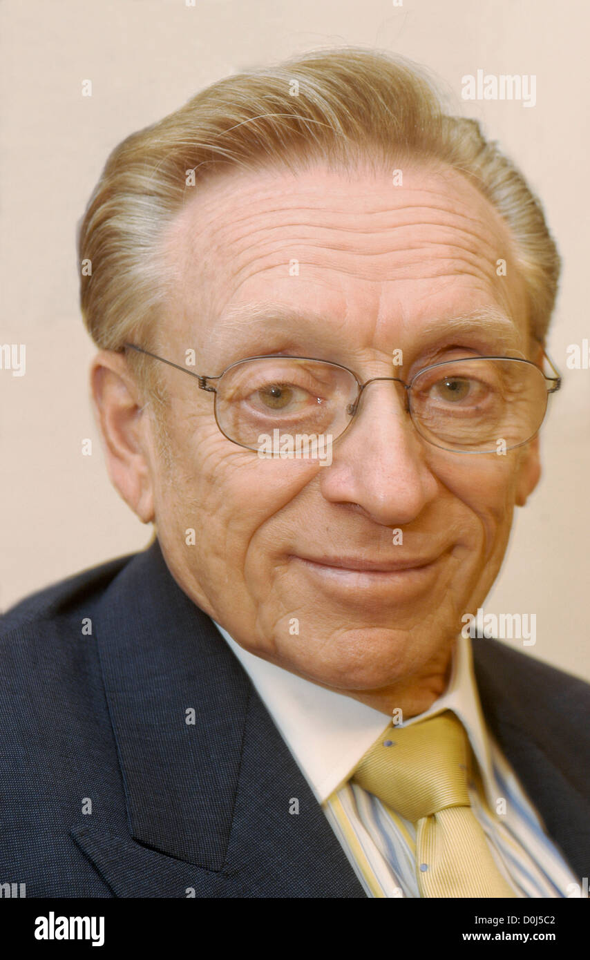 Larry Silverstein, leaseholder for the World Trade Center, in his Fifth Ave office. - Stock Image