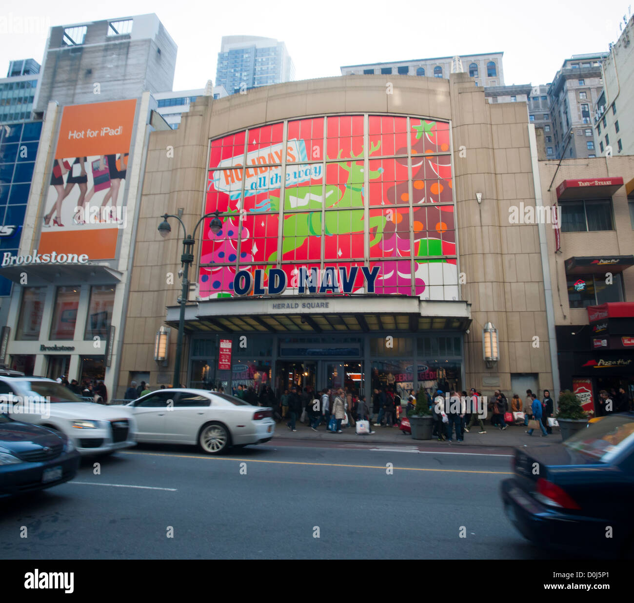 The Old Navy store in the Herald Square shopping district in New ...