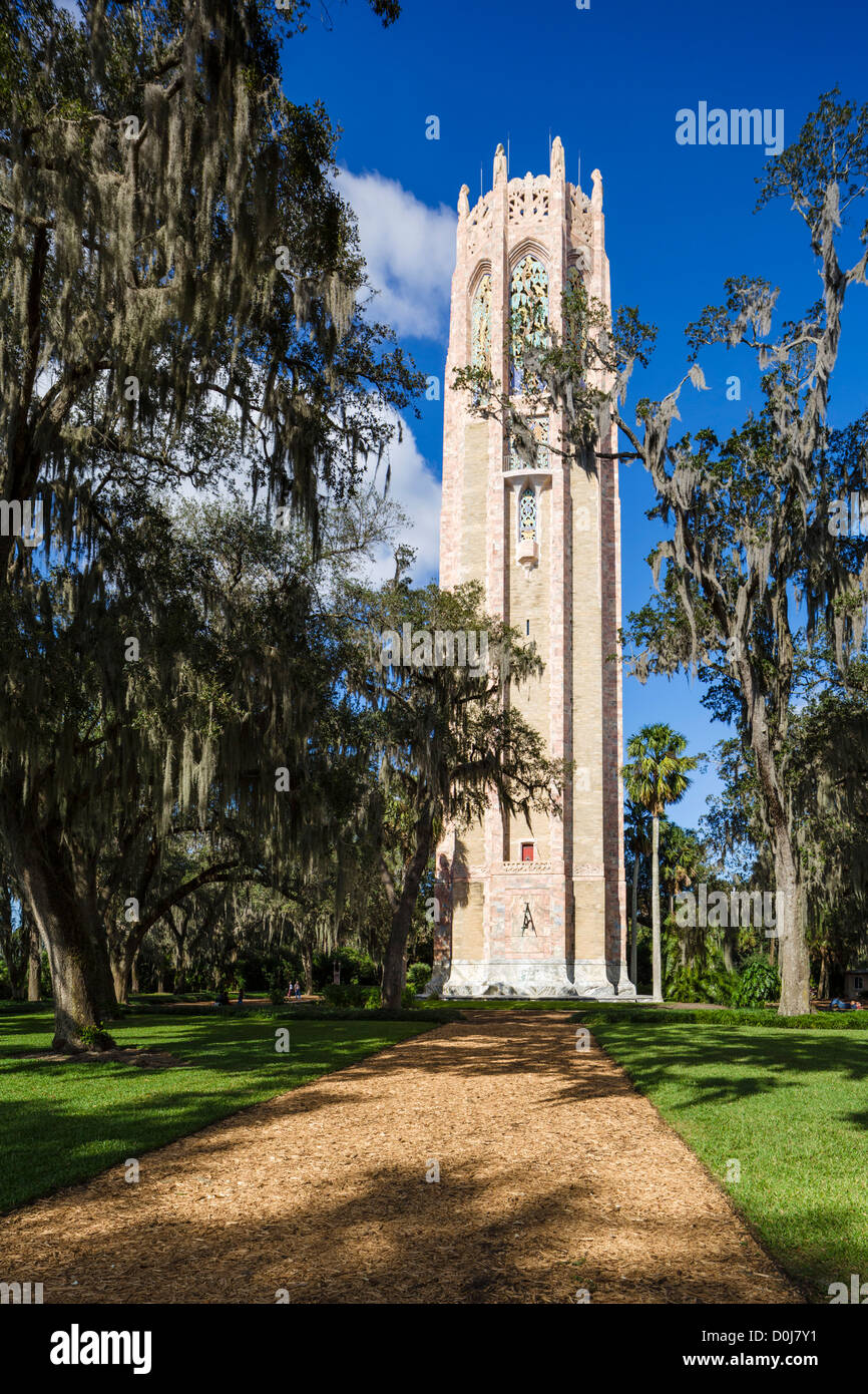 The Singing Tower, Bok Tower Gardens, Lake Wales, Polk County, Central Florida, USA - Stock Image