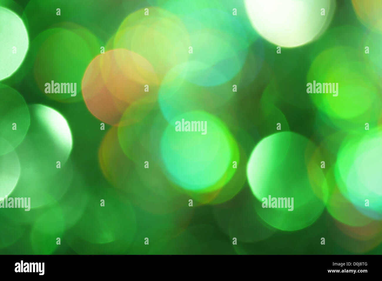 Abstract green light - Stock Image