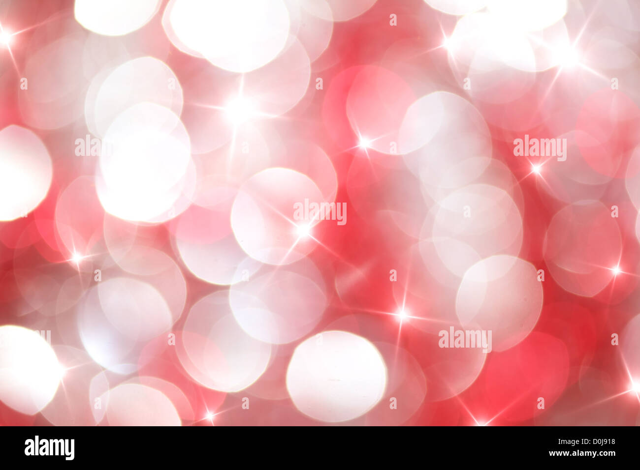 Red and white lights - Stock Image