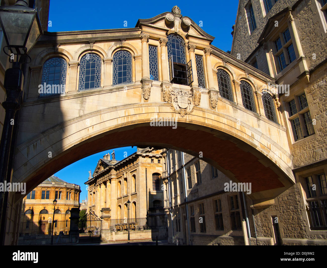 The Bridge of Sighs at Hertford College in Oxford. - Stock Image