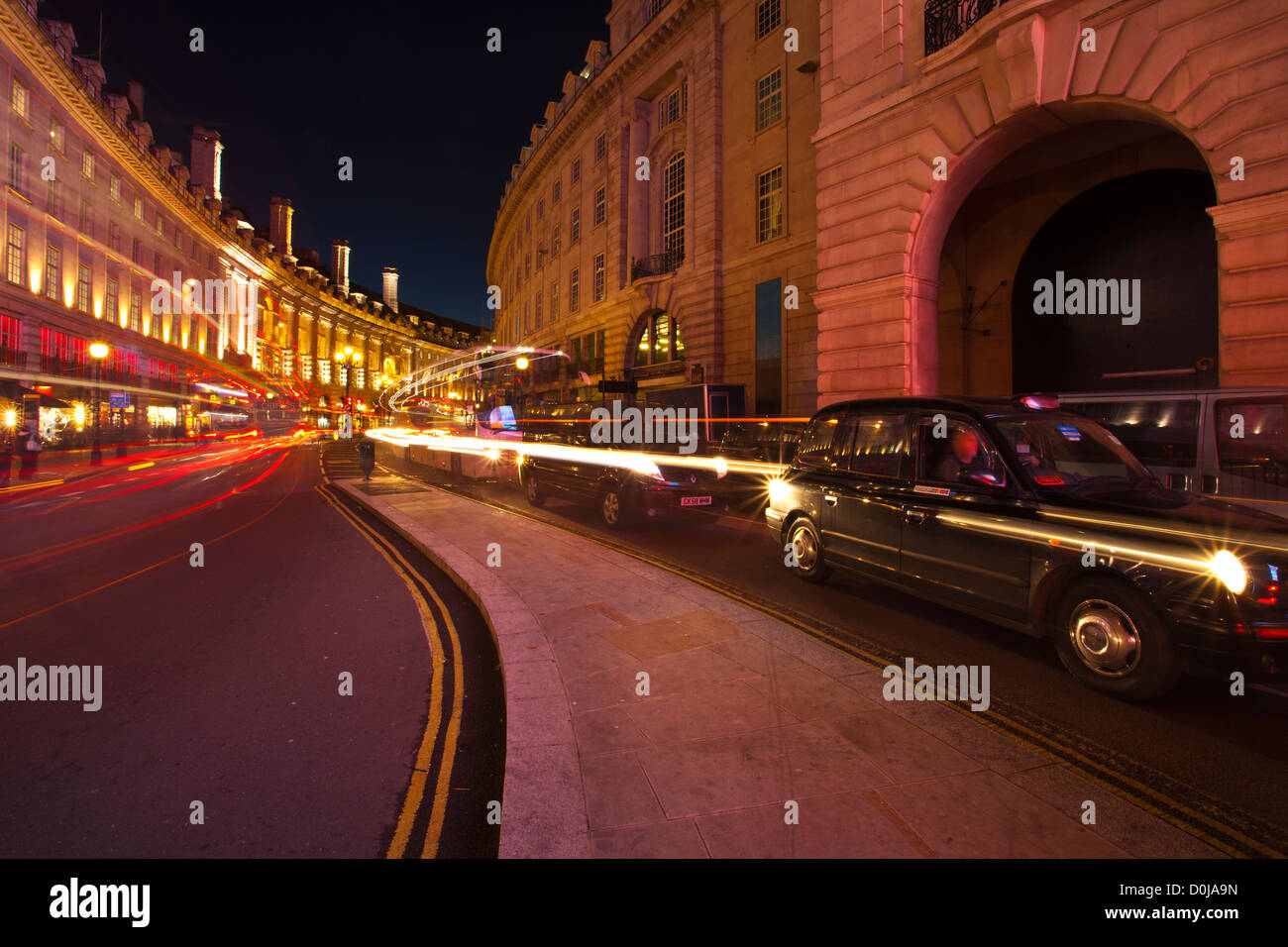 Road running from Piccadilly Circus in the West End of London. - Stock Image