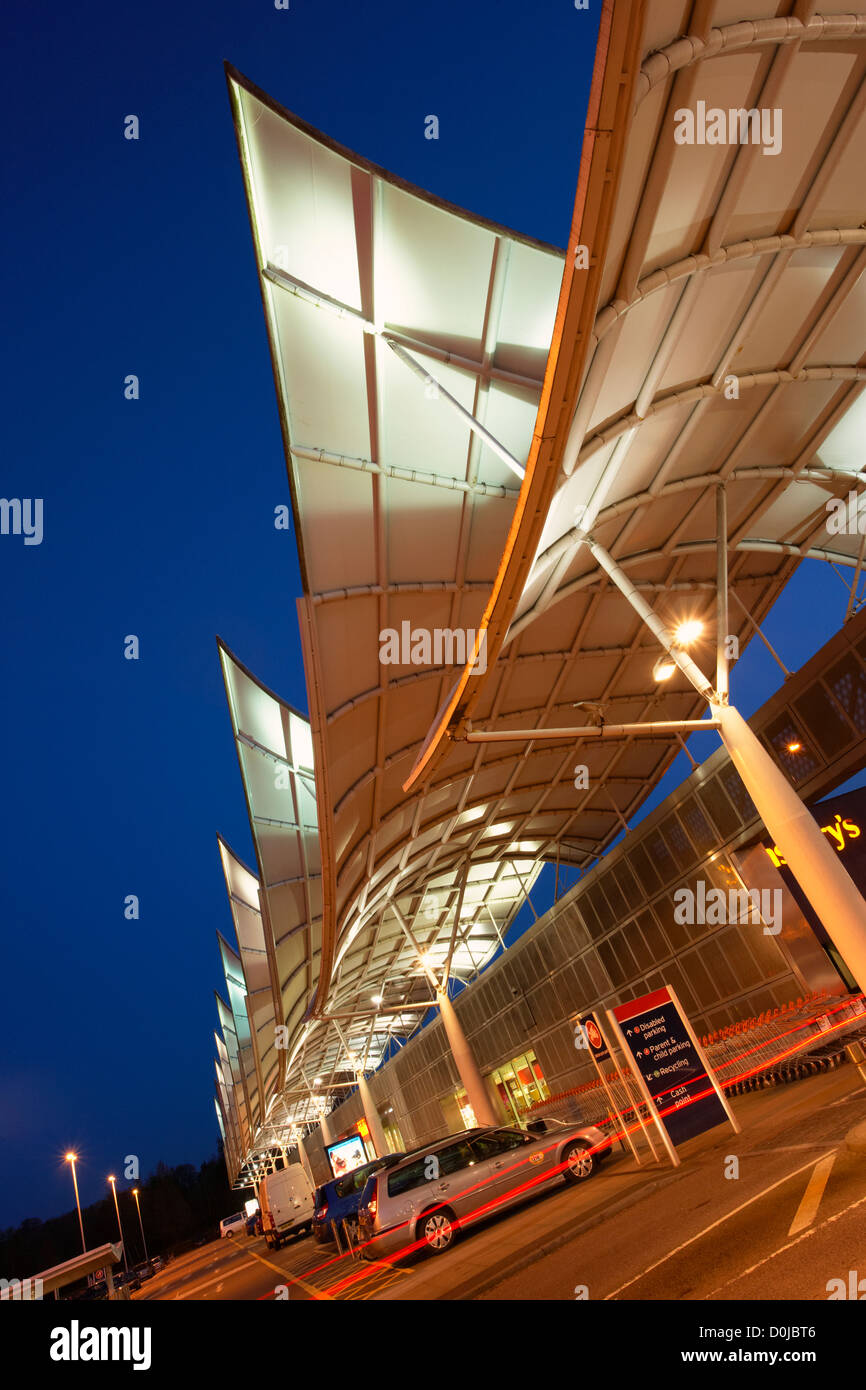 The sails on top of a Sainsburys supermarket in Plymouth. - Stock Image