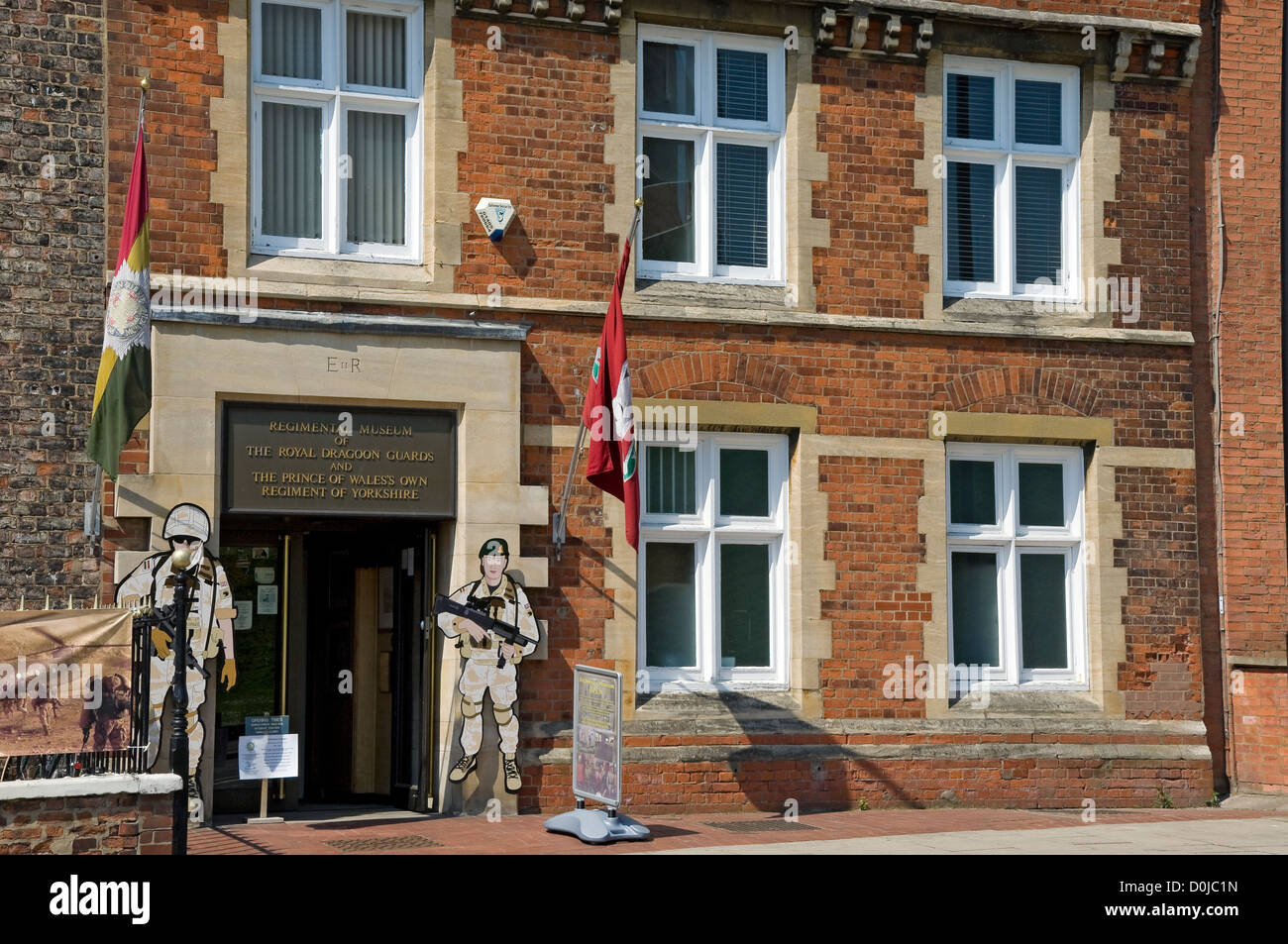 Frontage of the York Army Museum in Tower Street. - Stock Image