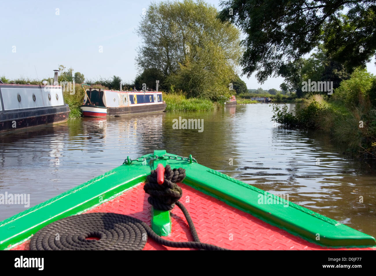 Cruising the Uk Inland Waterways - Stock Image