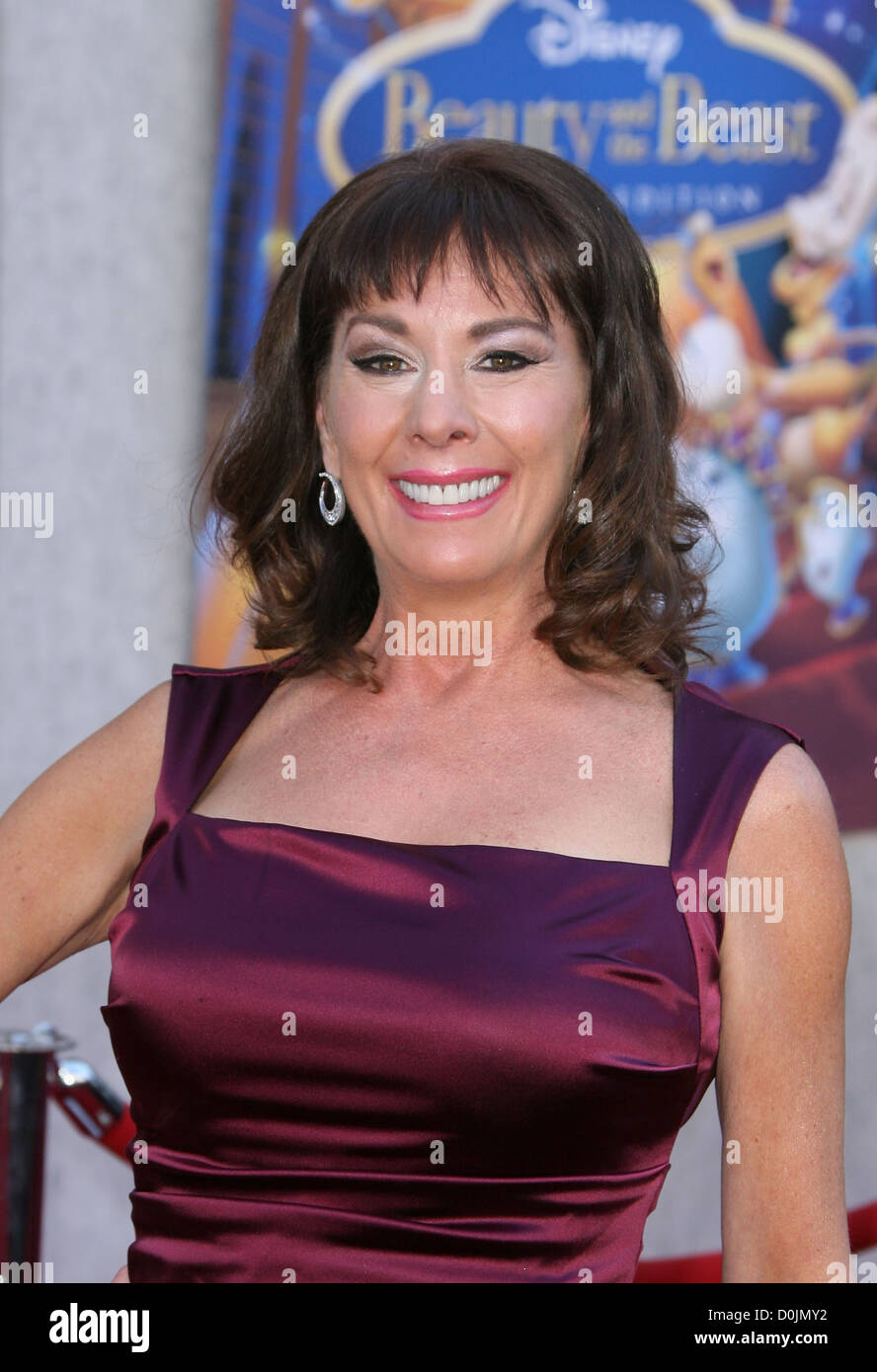Paige O Hara Voice Of Belle A Sing A Long Premiere Of Beauty And The Stock Photo Alamy
