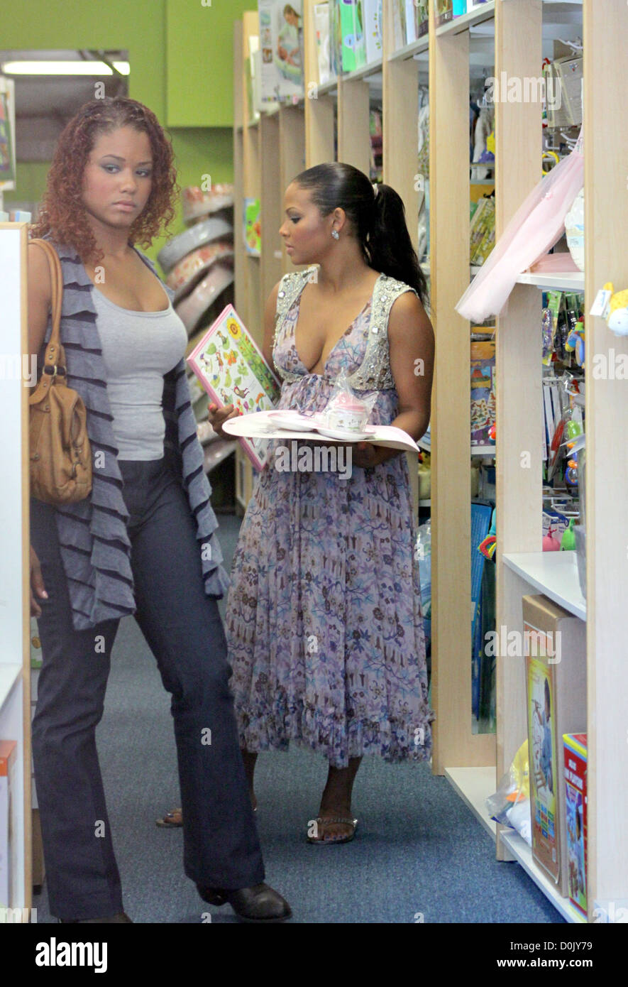 Christina Milian Out Shopping Baby Clothes Los Angeles California