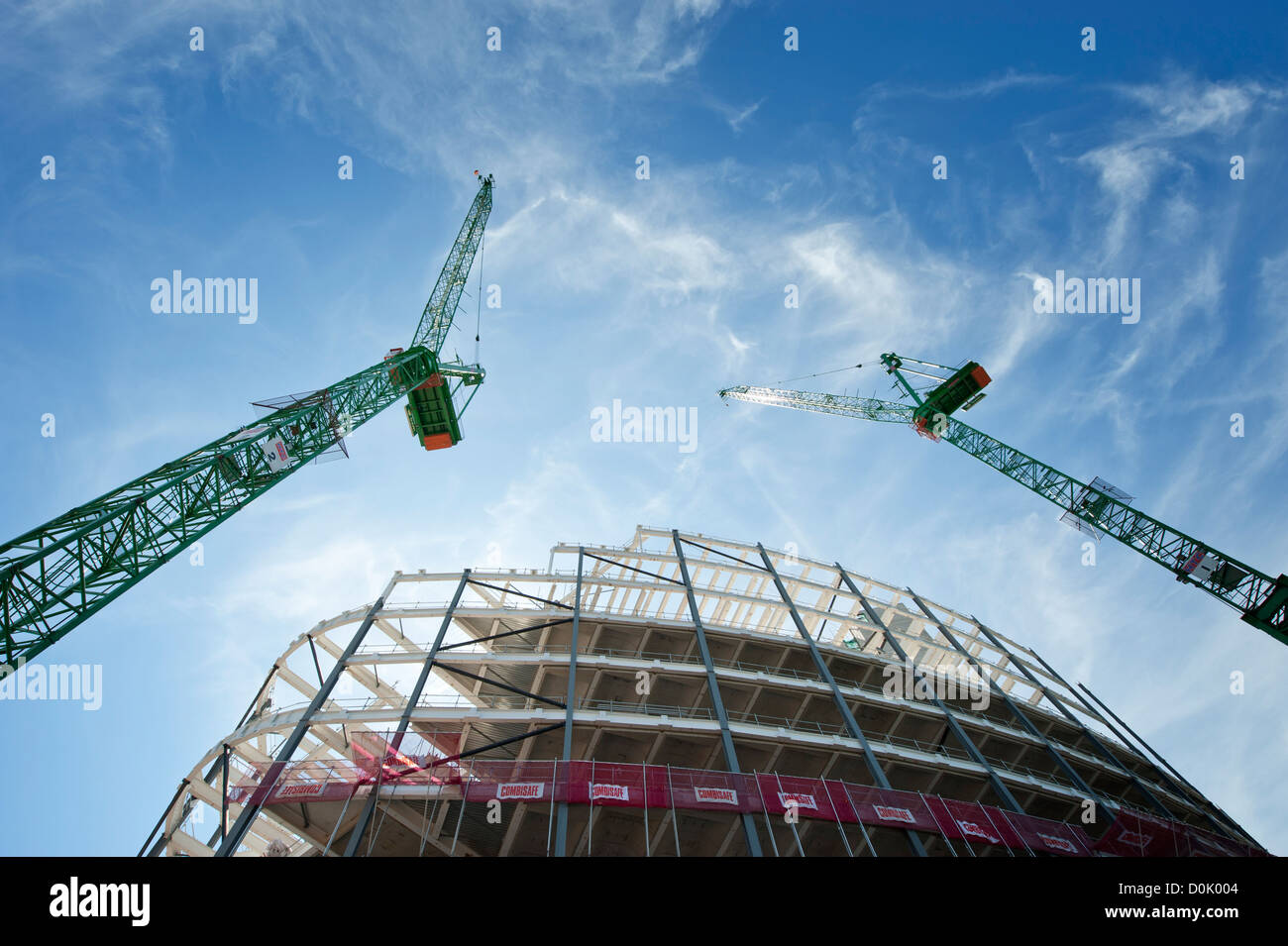 A new building under construction in Manchester city centre. - Stock Image