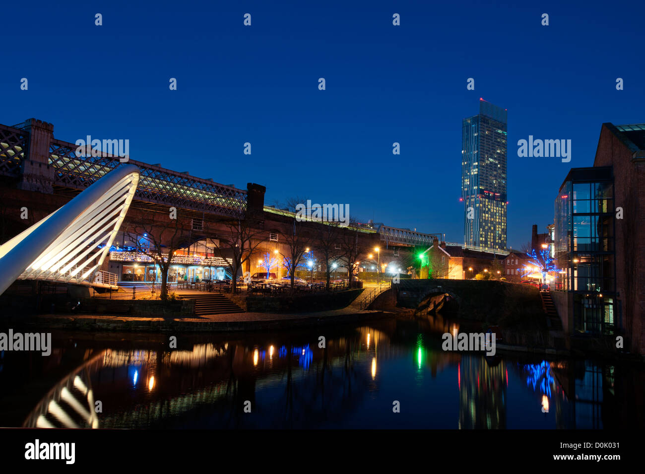 A view of the Castlefield area of Manchester. - Stock Image