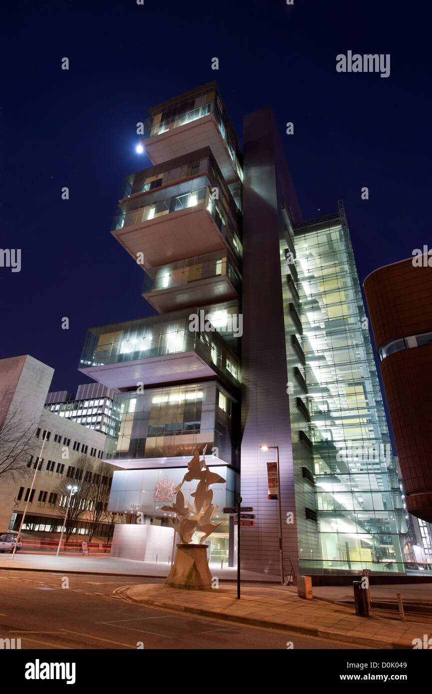 A view of Manchester Civil Justice Centre. - Stock Image