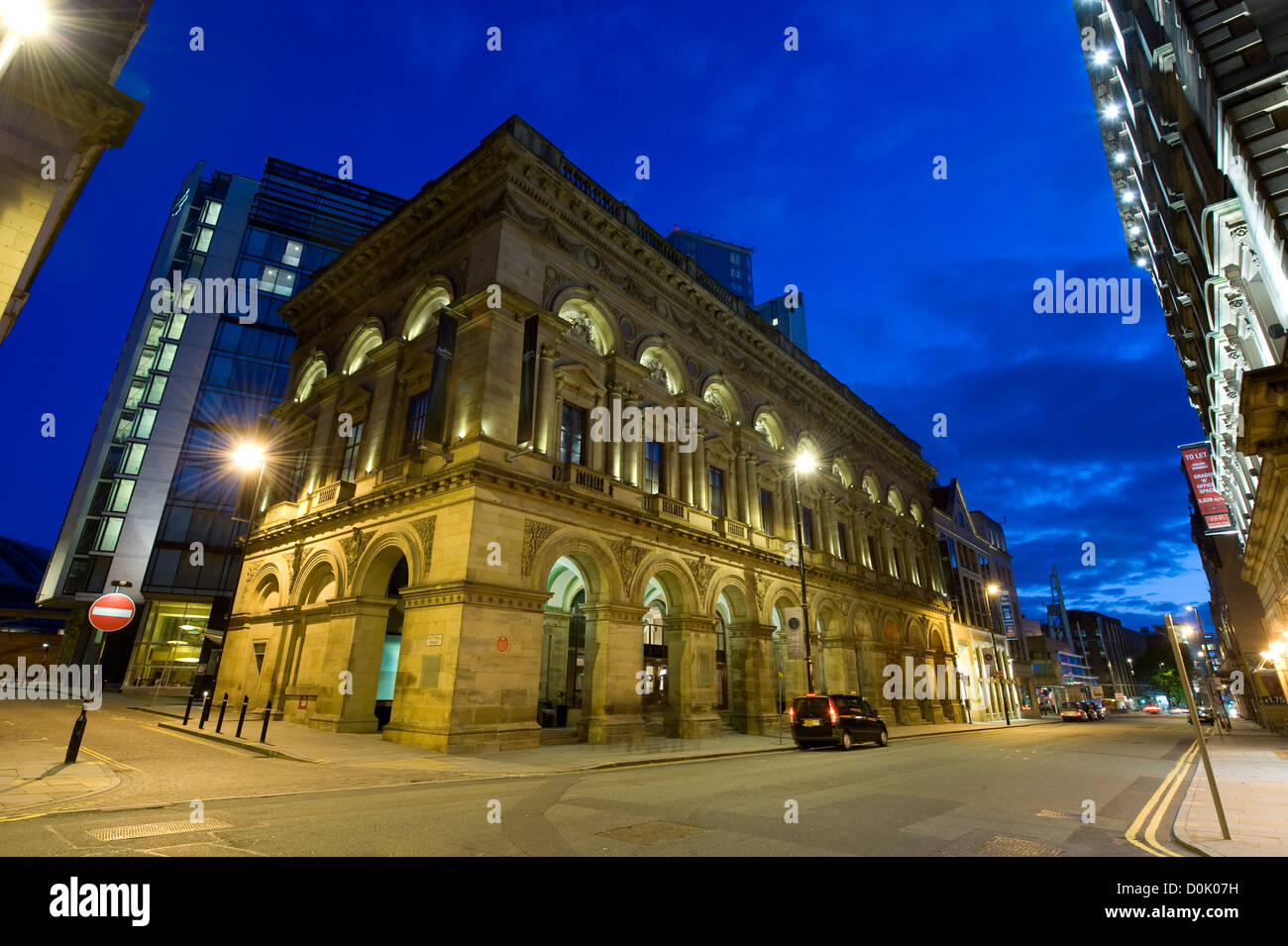 A view of the Free Trade Hall in Manchester. - Stock Image