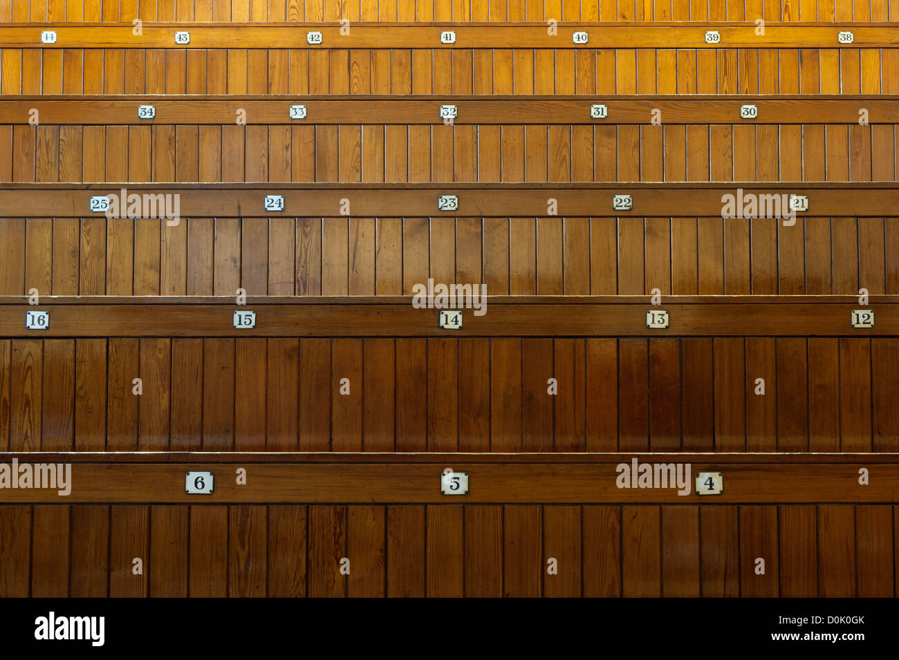 A traditional lecture theatre at the University of Manchester. - Stock Image