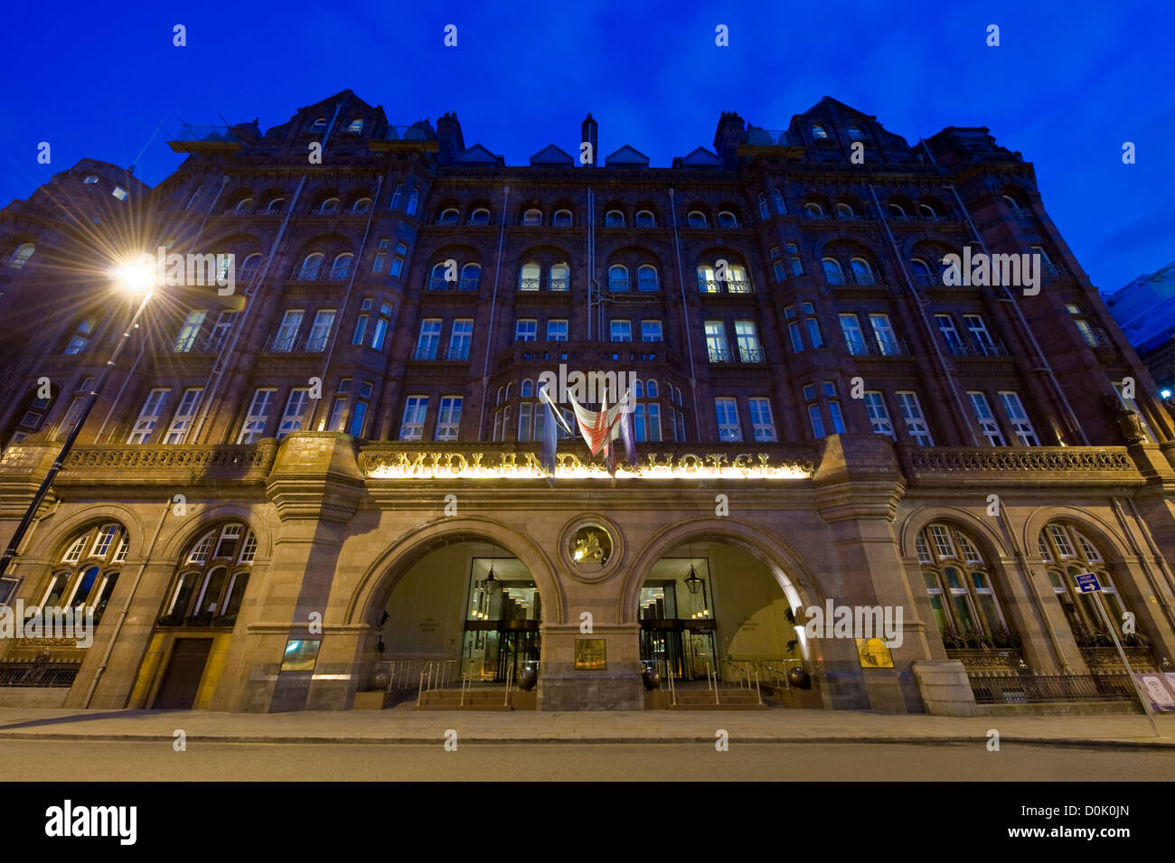 The Midland Hotel in St Peter's Square in Manchester. - Stock Image