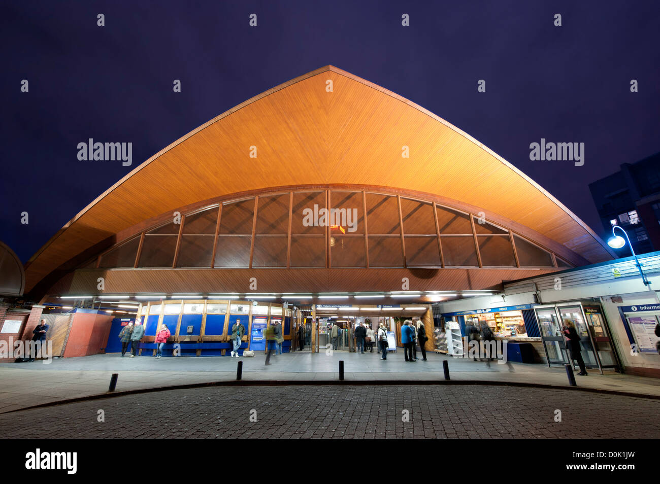 Oxford Road railway station in Manchester. - Stock Image