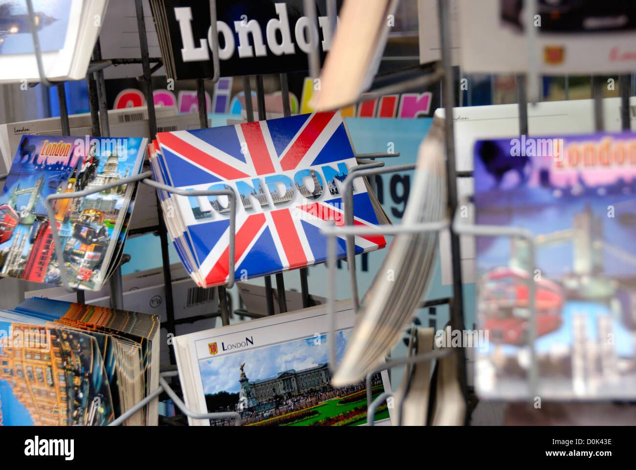 Postcards of London - Stock Image