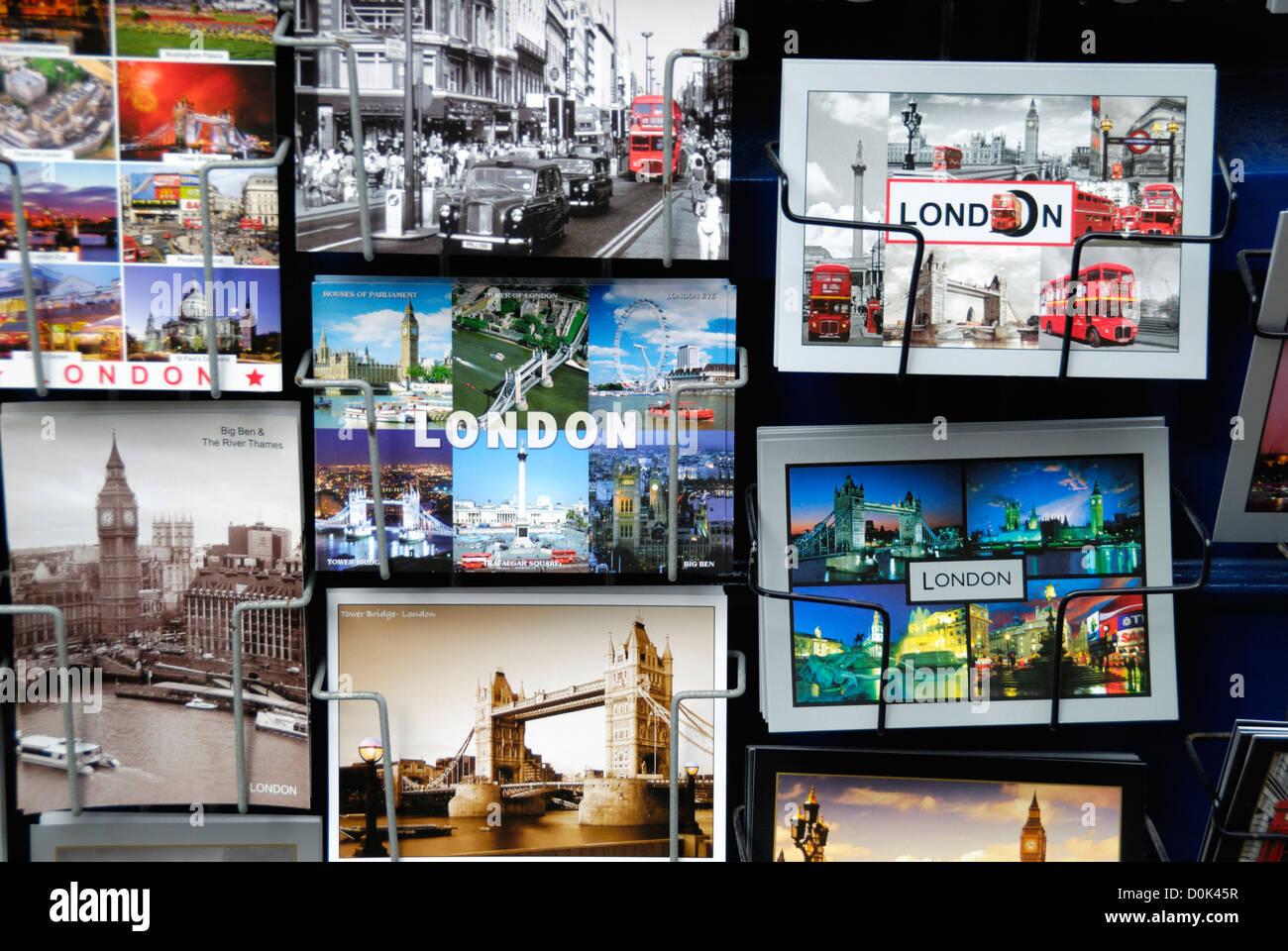 Postcards of London. - Stock Image