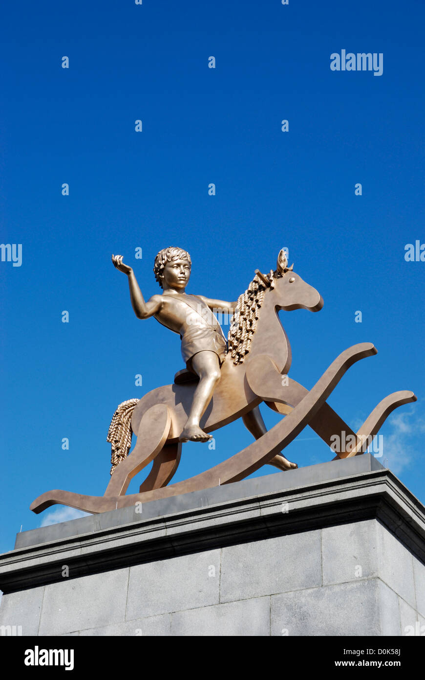 Fourth plinth statue Powerless Structures by Elmgreen and Dragset. - Stock Image
