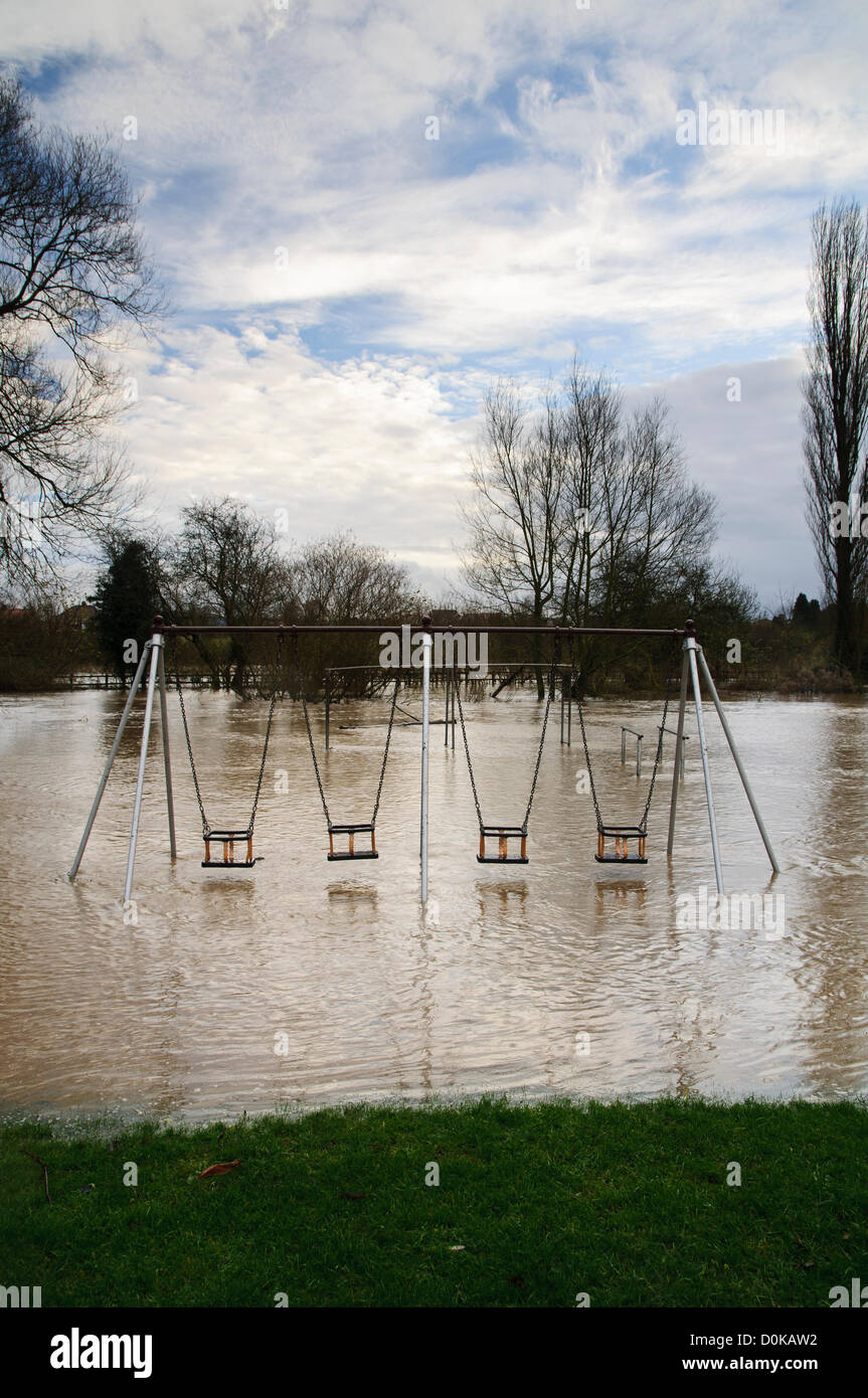 Heavy rain has brought flooding to many parts of the UK with North Yorkshire being particularly badly hit.  This Stock Photo
