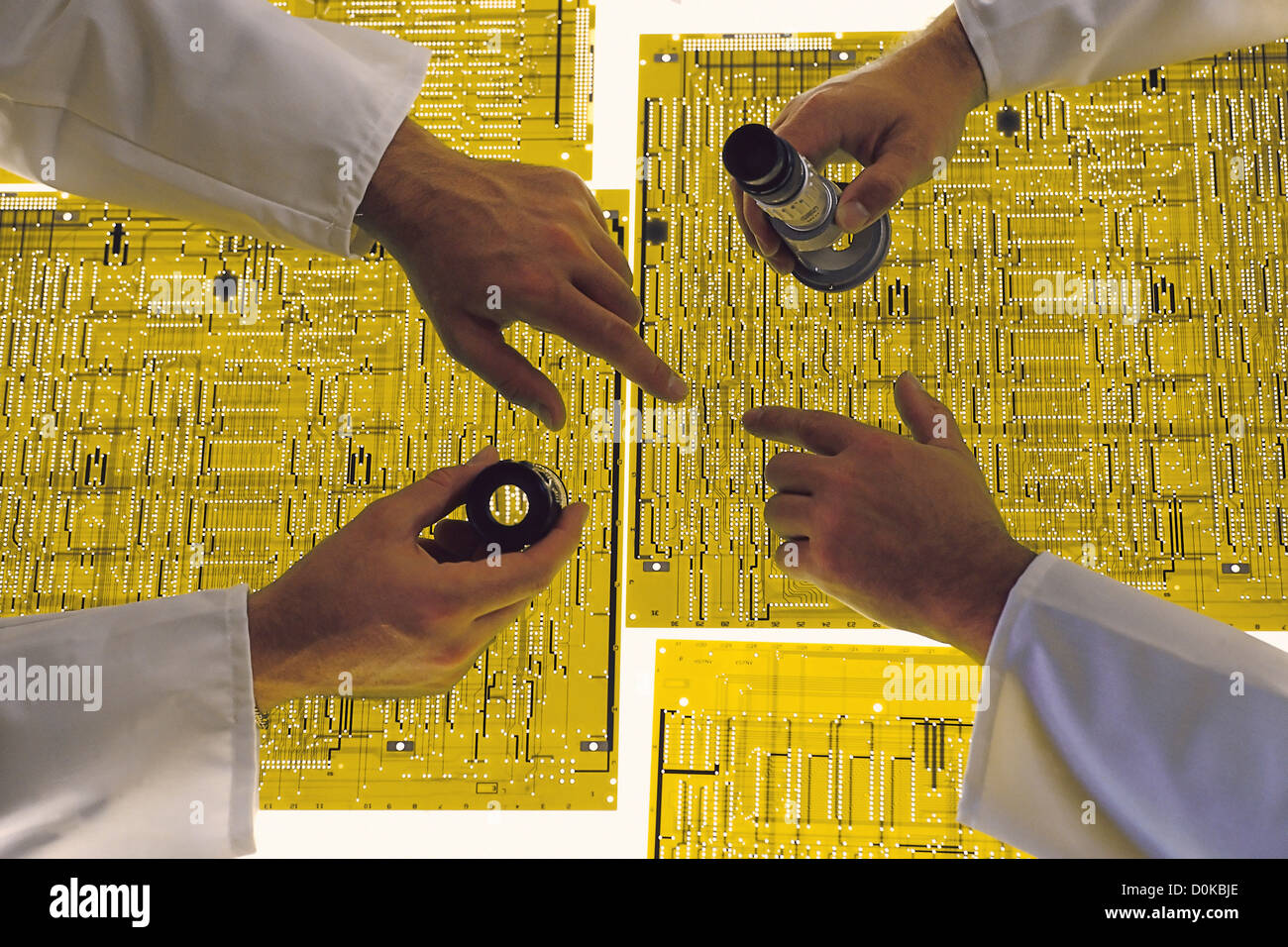 Production of Printed Circuits - Stock Image