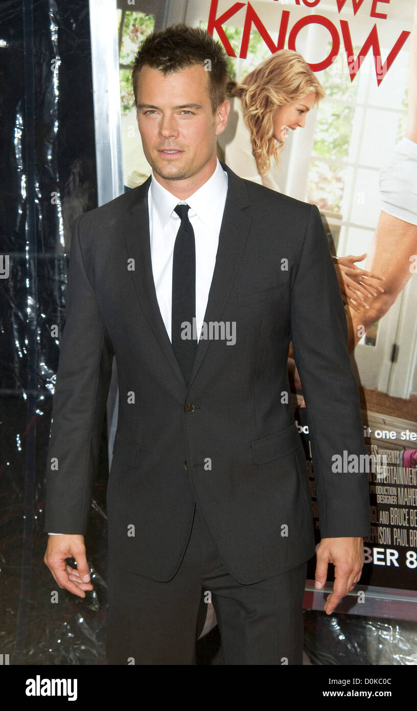 Josh Duhamel New York premiere of 'Life As We Kw It' - Arrivals New York City, USA - 30.09.10 - Stock Image