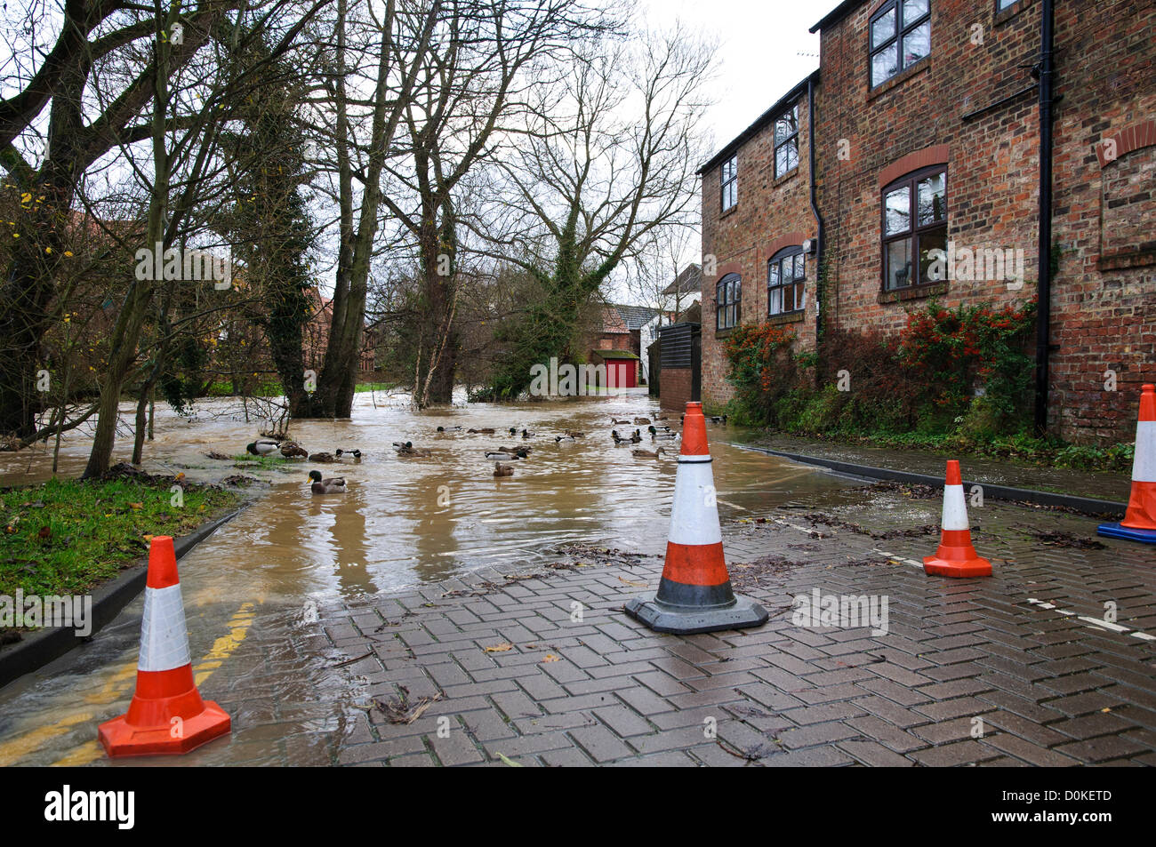 Heavy rain has brought flooding to many parts of the UK with North Yorkshire being particularly badly hit.  This - Stock Image