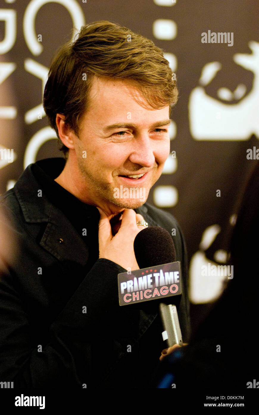 Edward Norton at The 46th Chicago International Film Festival - 'Stone' Premiere and opening night at the - Stock Image