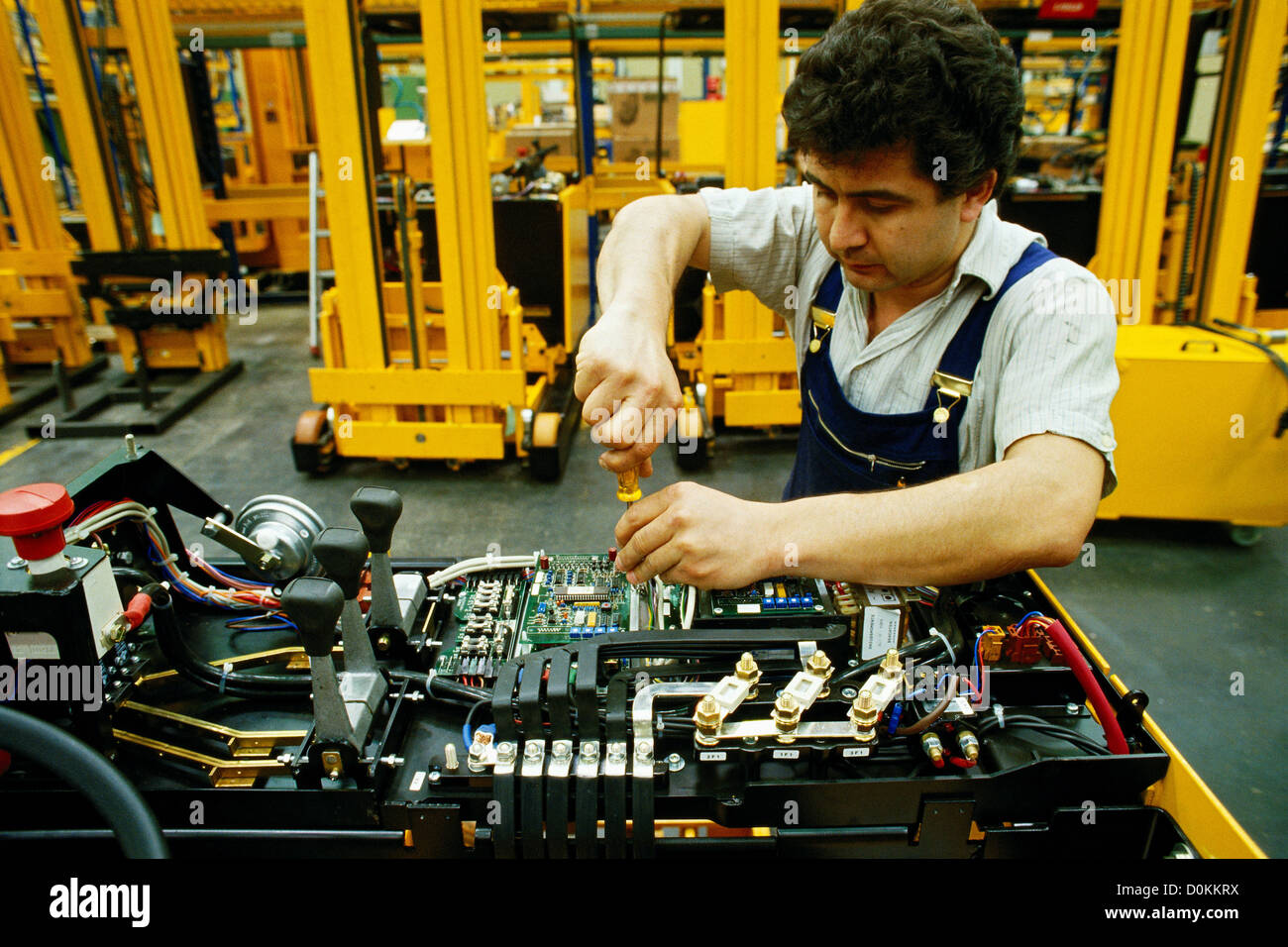 An industrial electronics engineer working on electronic component in Stock  Photo - Alamy