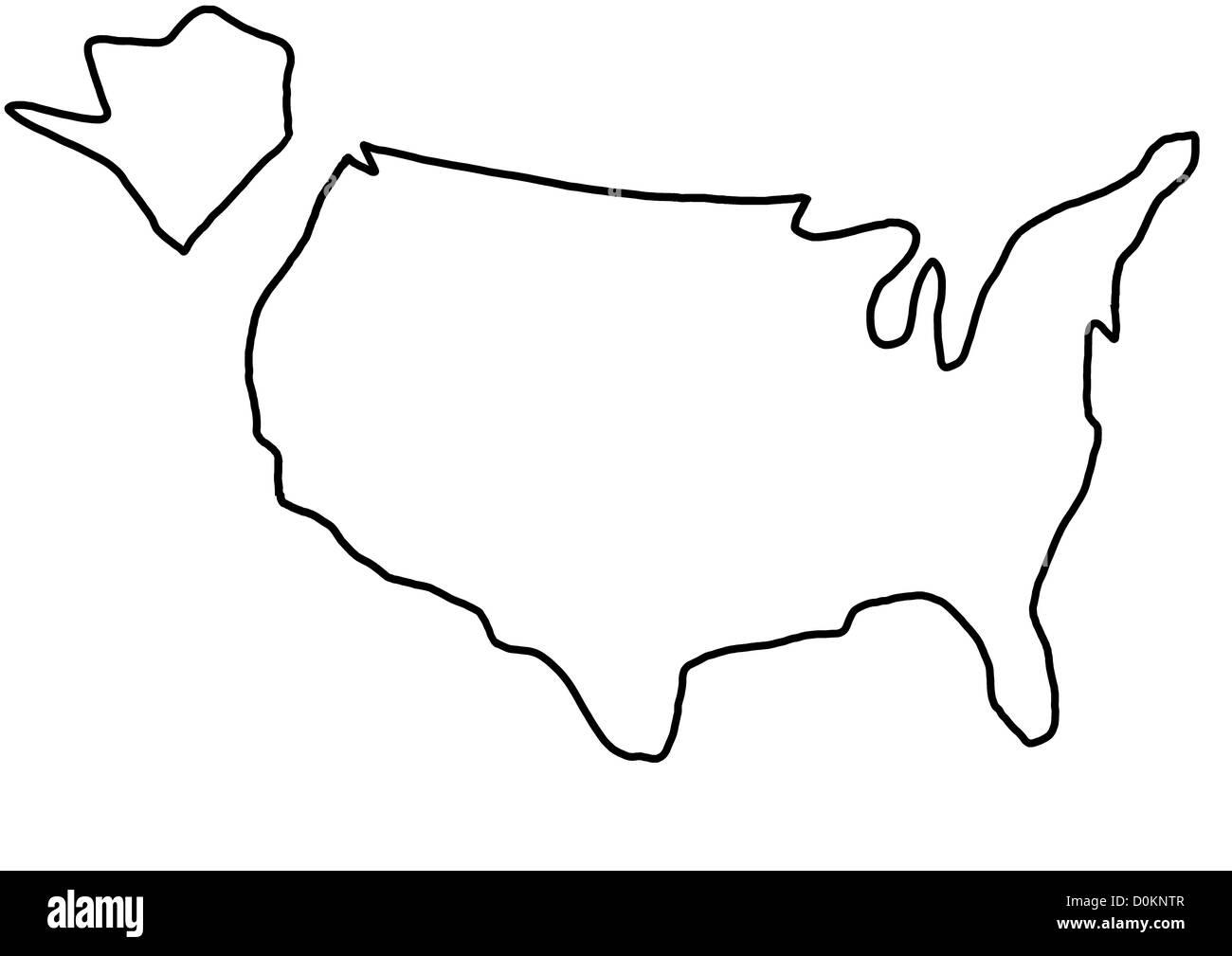 Usa Us United States Amerika Vereinigte Staaten Karte Landkarte