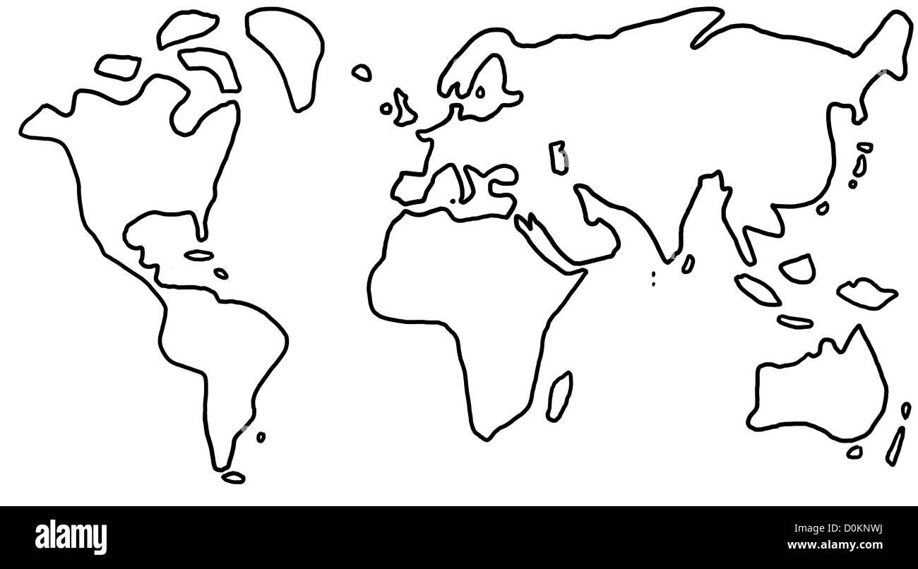 Welt Erde Weltkarte Kontinente Globus Karte Landkarte Grenzen Atlas.jpg Stock Photo