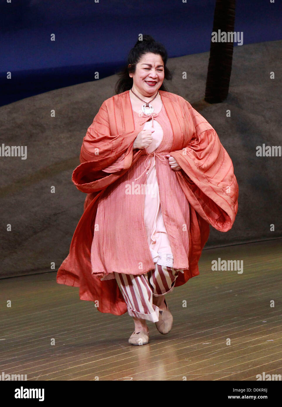 Loretta Ables Sayre Closing night of the Lincoln Center Theater production of 'South Pacific' at the Vivian - Stock Image