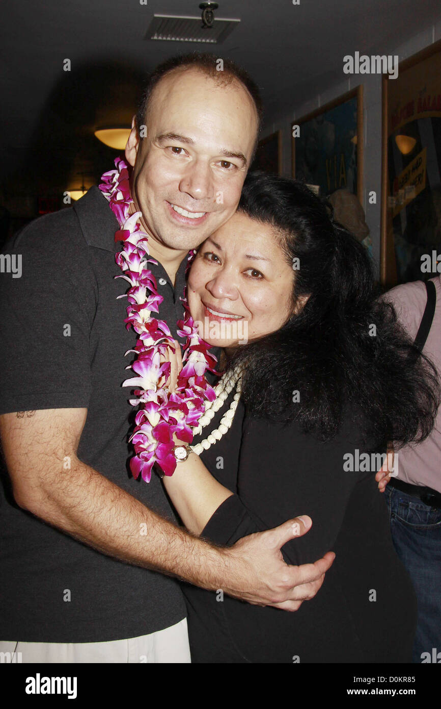 Danny Burstein and Loretta Ables Sayre Closing night of the Lincoln Center Theater production of 'South Pacific'' - Stock Image