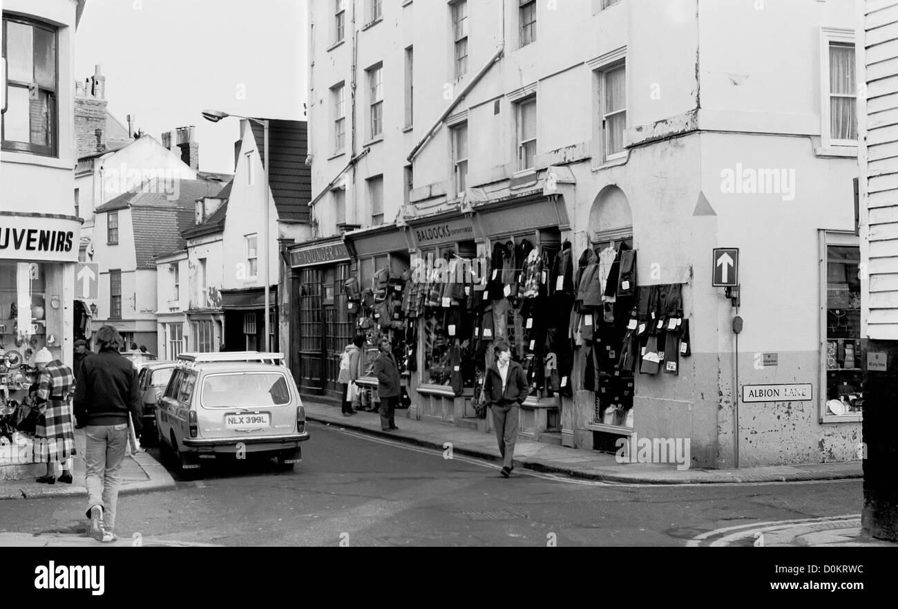 George street in Hastings Old Town taken in 1977. - Stock Image