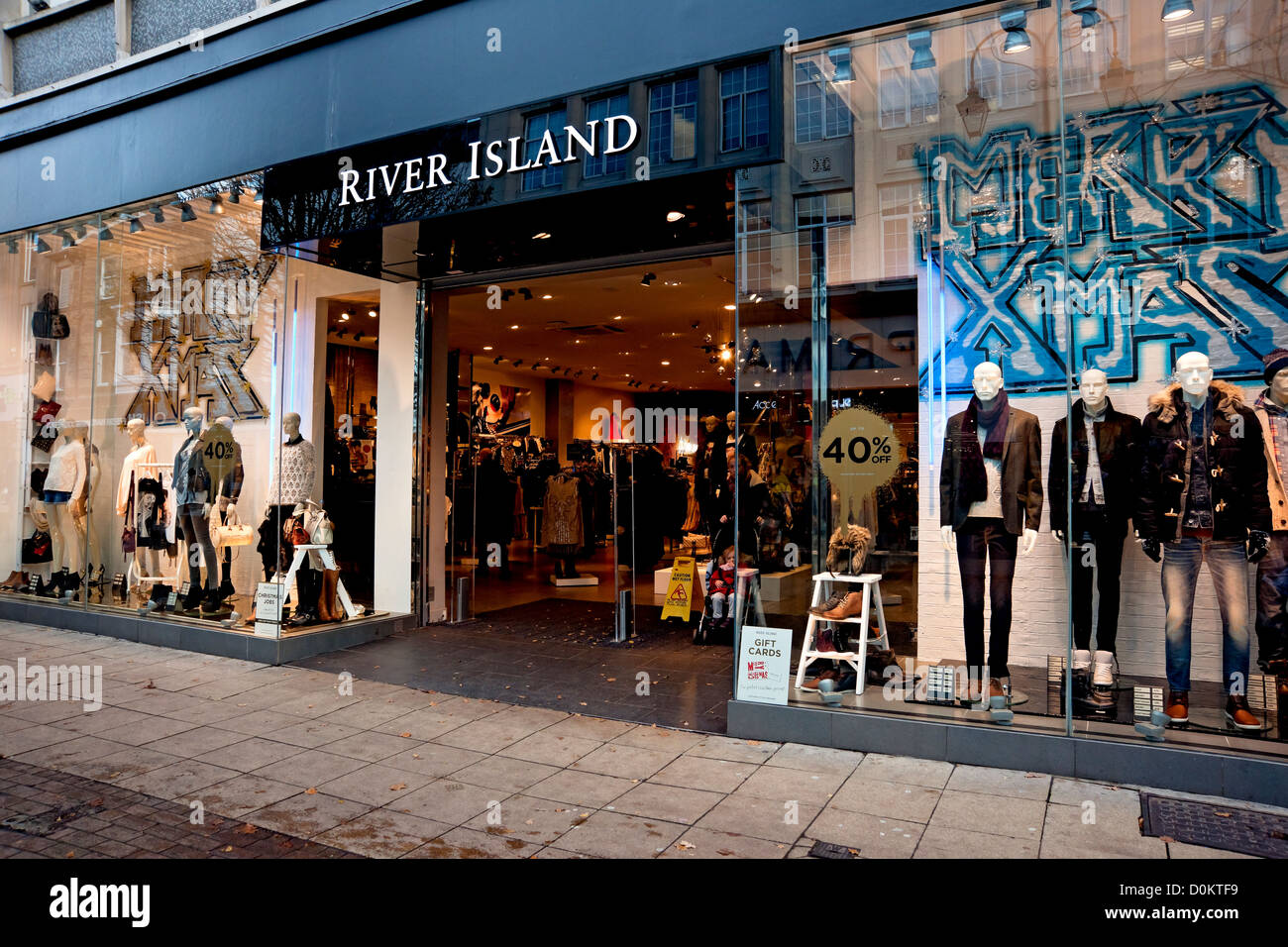 River Island shop store Harrogate North Yorkshire England UK United Kingdom GB Great Britain - Stock Image
