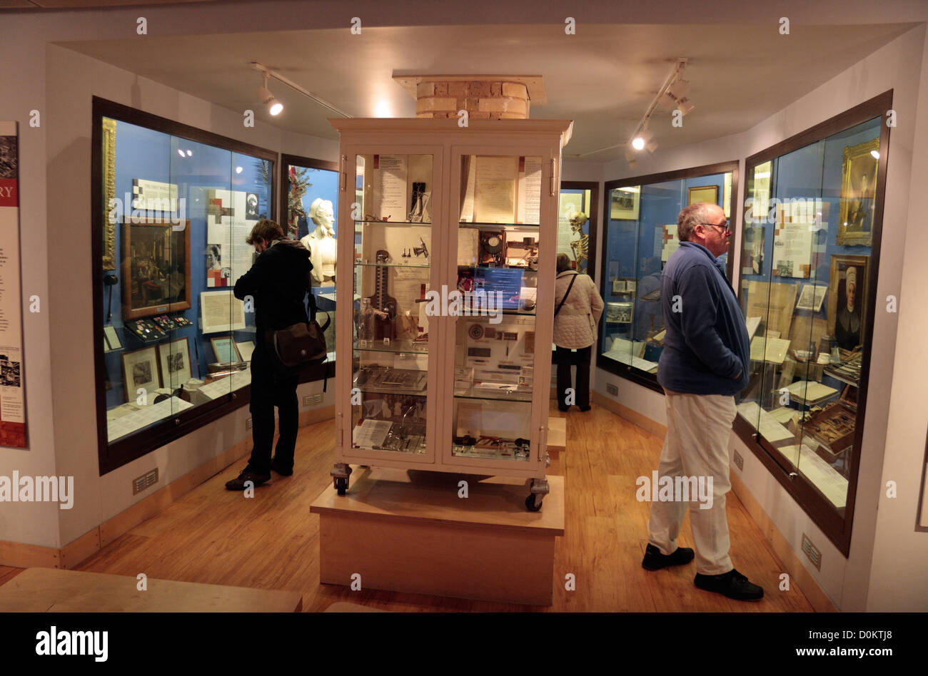 General view of the small but amazing Royal London Hospital Museum, Whitechapel, London, UK. - Stock Image