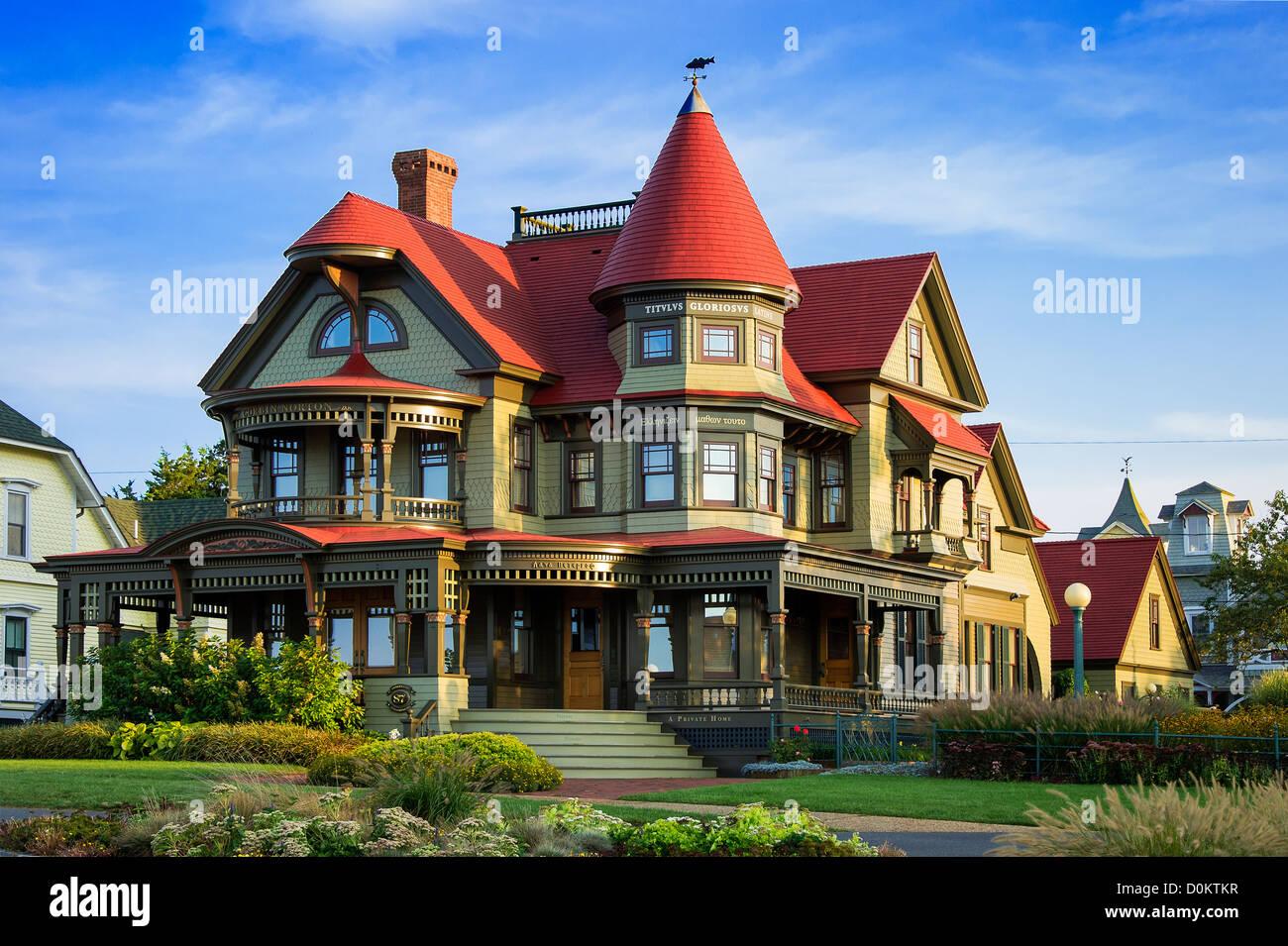 Corbin-Norton house, Ocean Avenue, Oak Bluffs, Martha's Vineyard, Massachusetts, USA - Stock Image