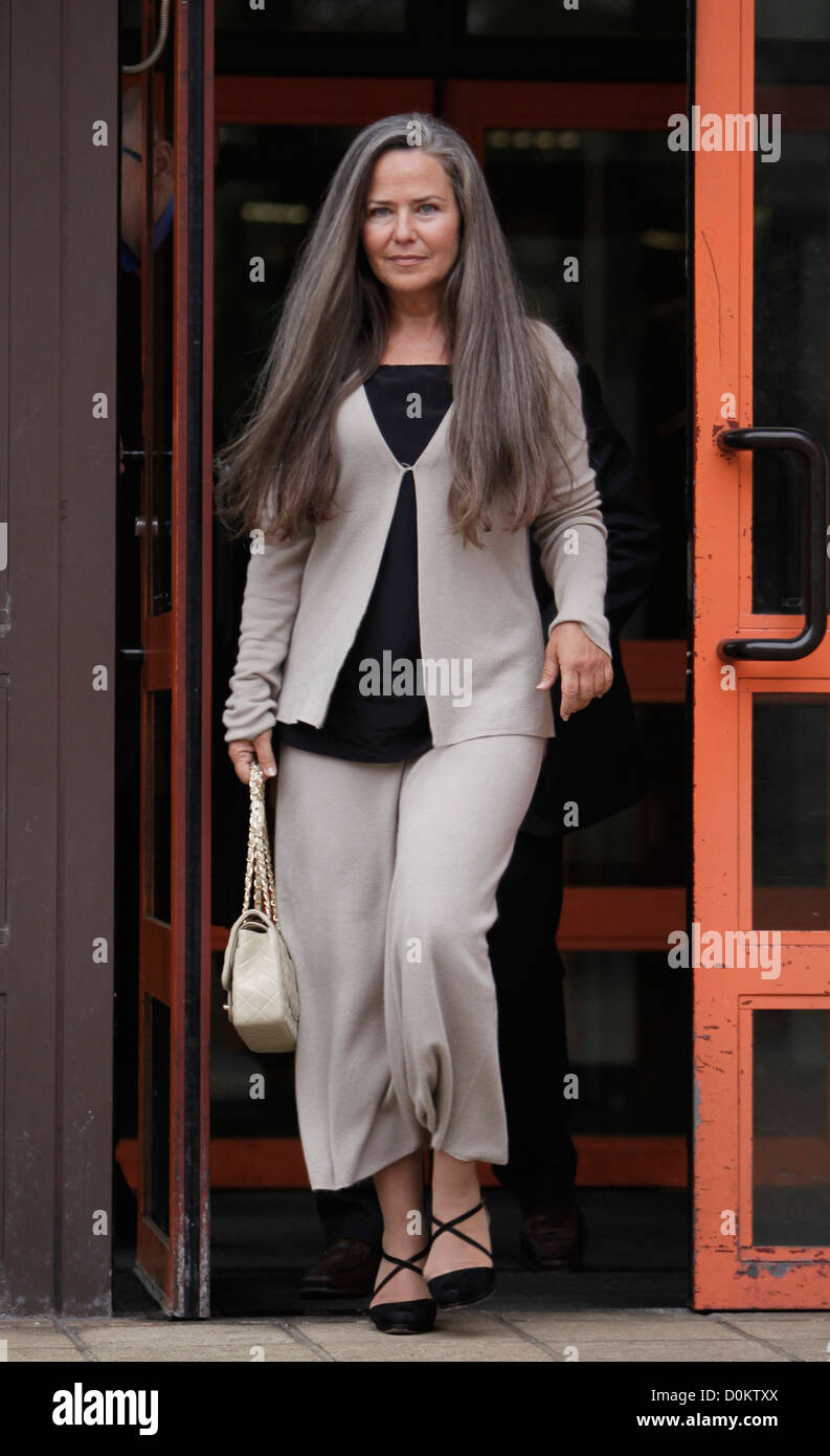 Koo Stark, ex-girlfriend of Prince Andrew, Duke of York,at Hammersmith magistrates courts for a hearing over accusation - Stock Image