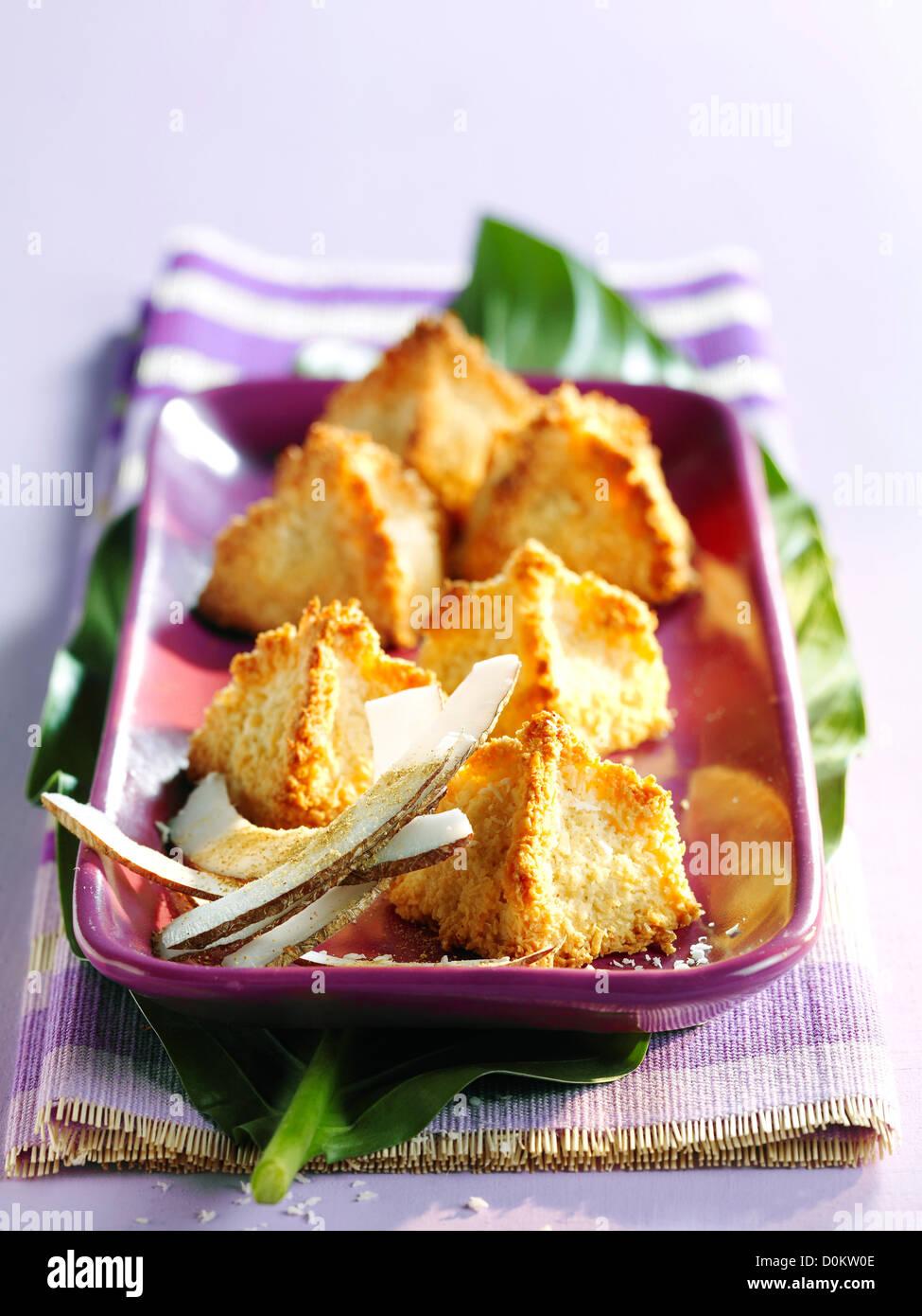 Coconut-ginger rocks - Stock Image