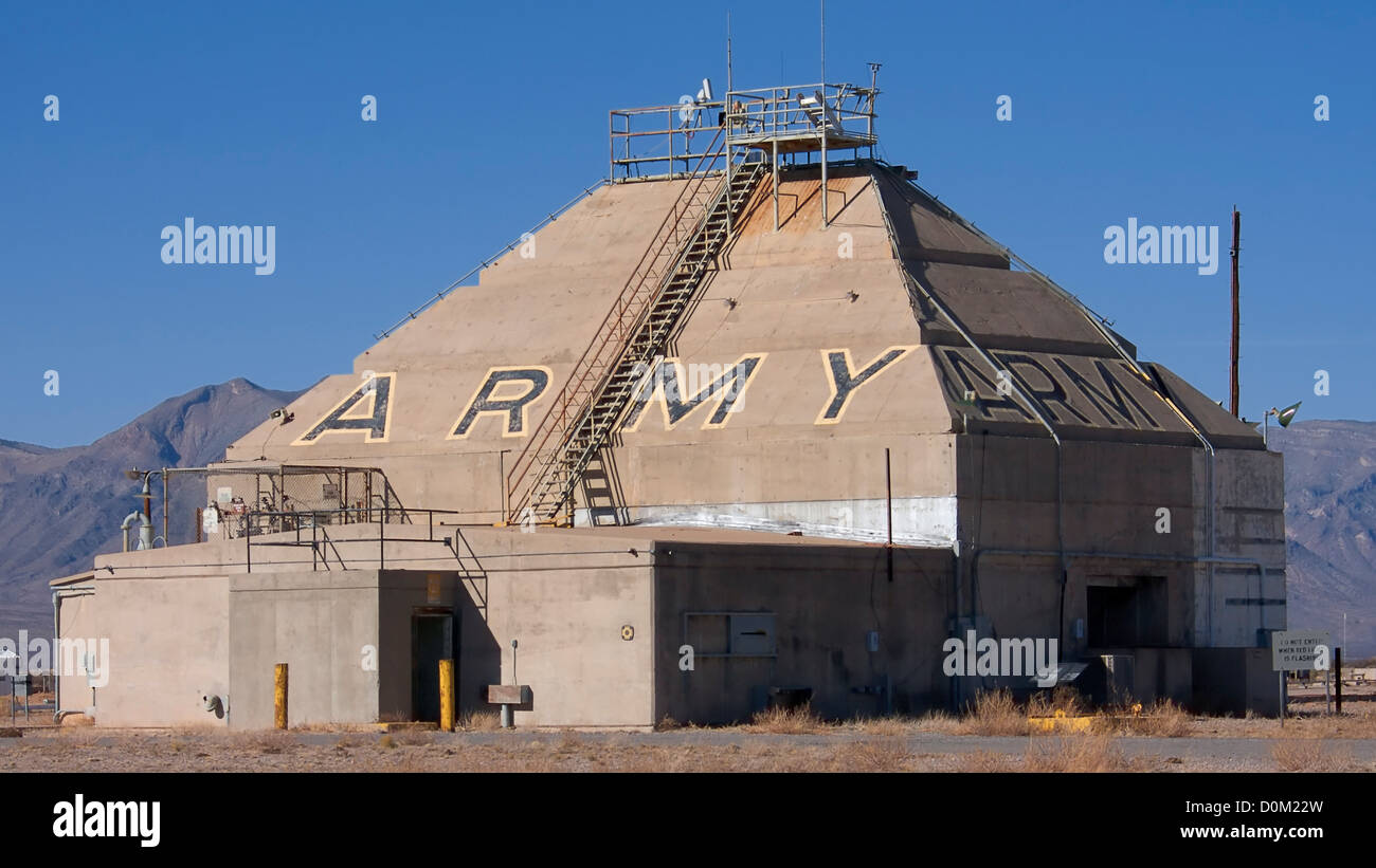 The historic Army Blockhouse Launch Complex 33 in White Sands Missile Range where US Army tested captured V2 rockets. Stock Photo