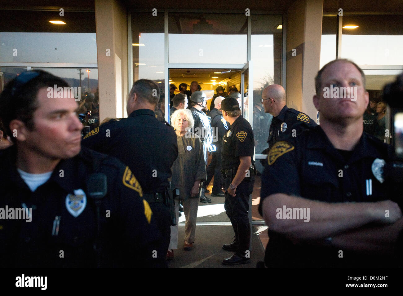 May 3 2011 Tucson Arizona U S Tucson Police Department Officers Escort