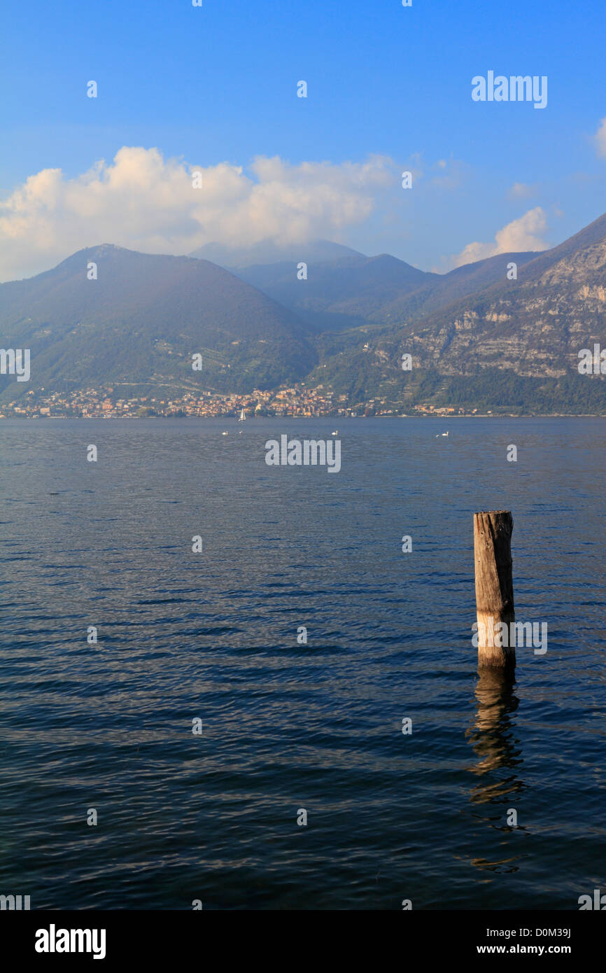 Lake Iseo near Bergamo, Lombardy, Italy, Europe. - Stock Image