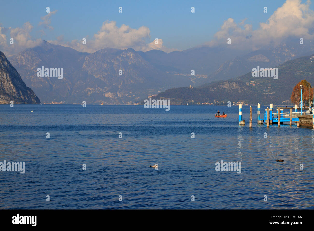 Lake Iseo near Bergamo, Lombardy, Italy, Europe. Stock Photo