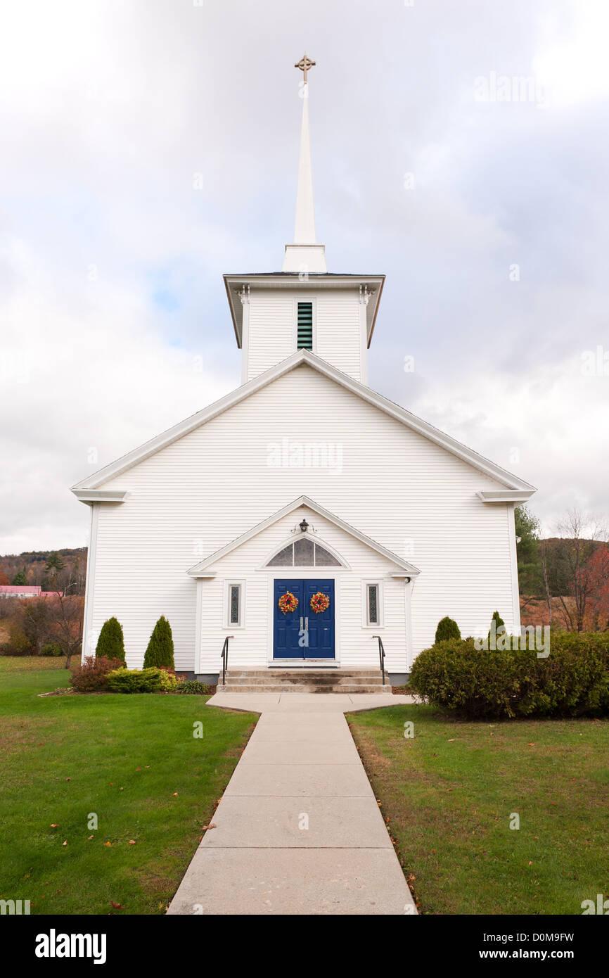 Our Lady of the Snows Roman Catholic Church, Franconia, New Hampshire, USA. - Stock Image