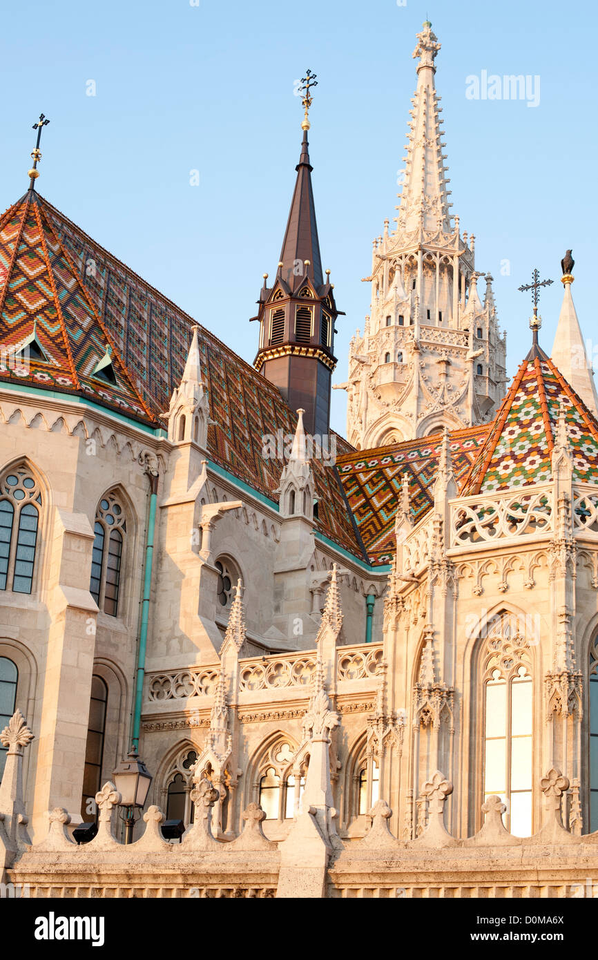 Matthias Church in Castle District in Budapest, the capital of Hungary. - Stock Image