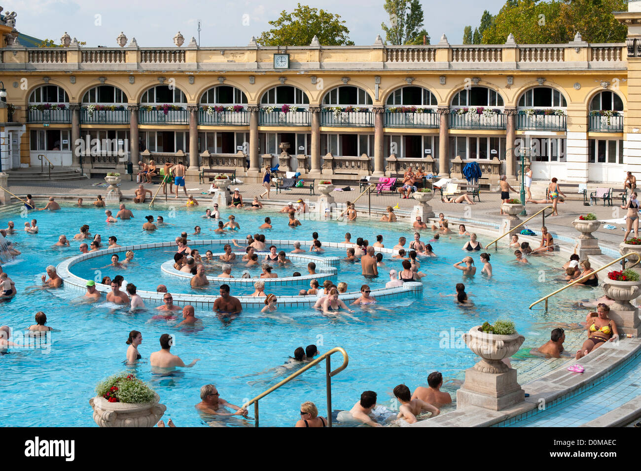 Szechenyi Baths in Budapest, the capital of Hungary. - Stock Image